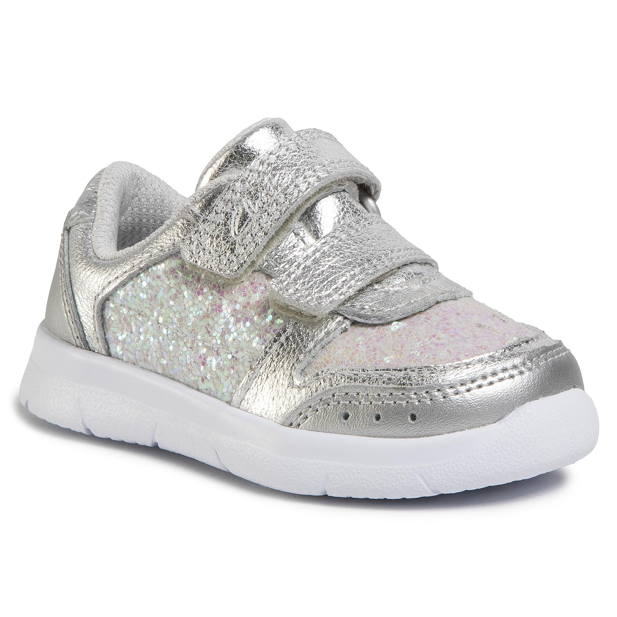 Sneakers CLARKS - Ath Sonar T 261496486 Silver Leather