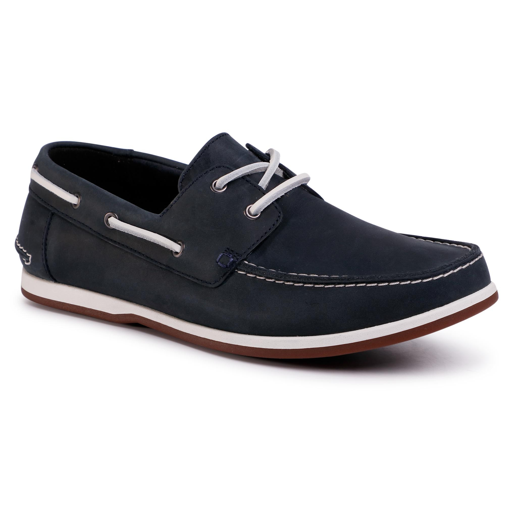 Mocasini Clarks - Pickwell Sail 261502347 Navy Leather imagine
