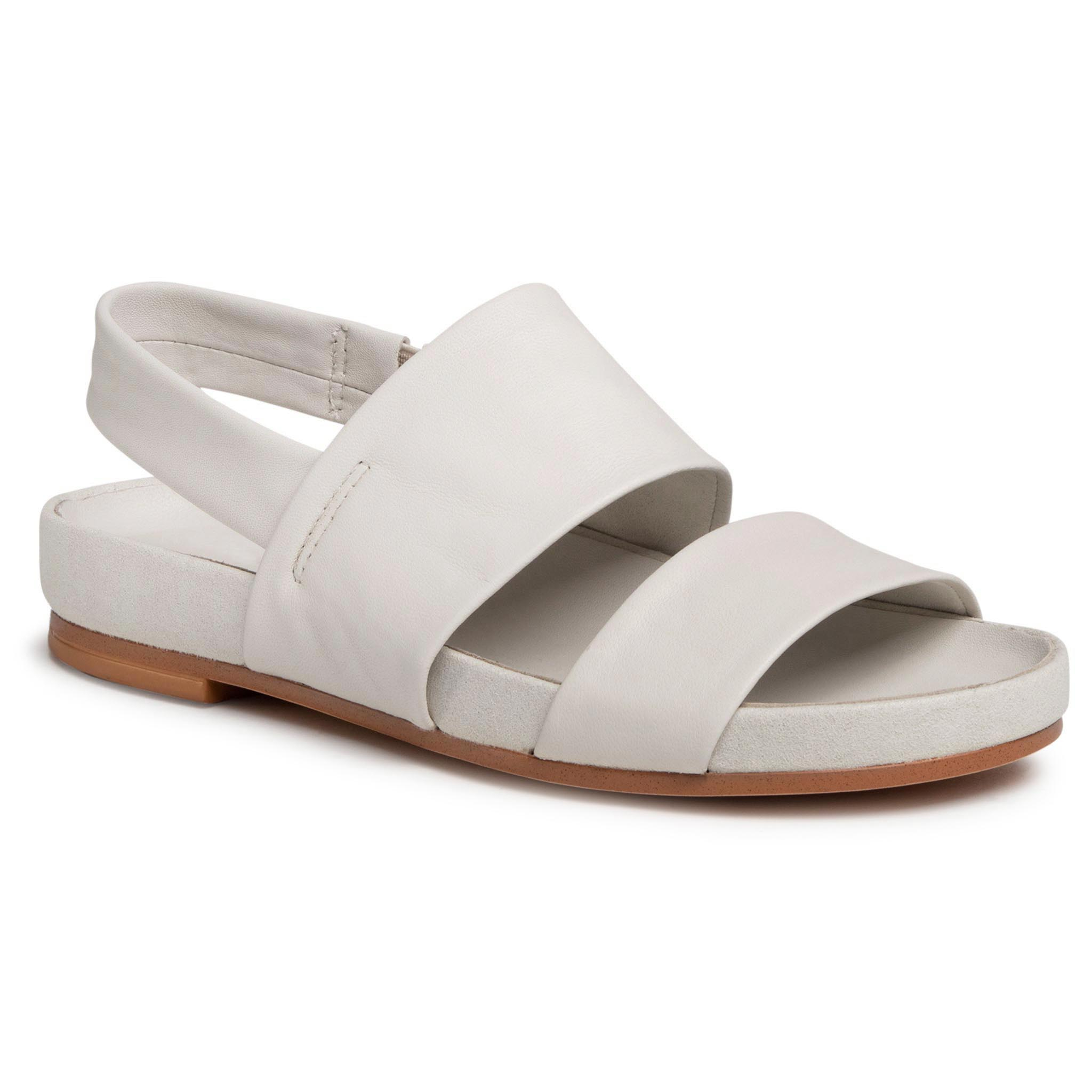 Sandale CLARKS - Pure Strap 261501884 White Leather