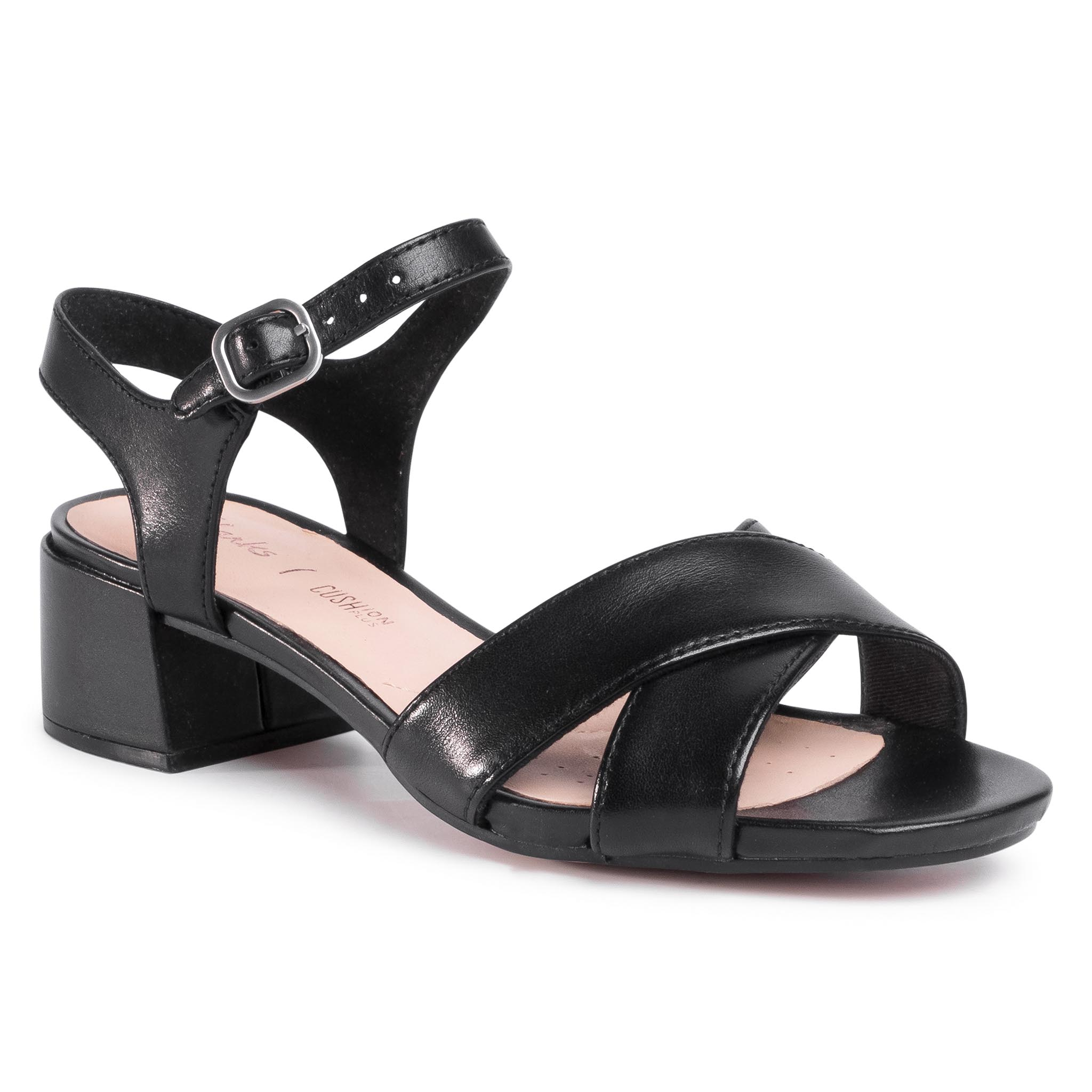 Sandale CLARKS - Sheer35 Strap 261484334 Black Leather