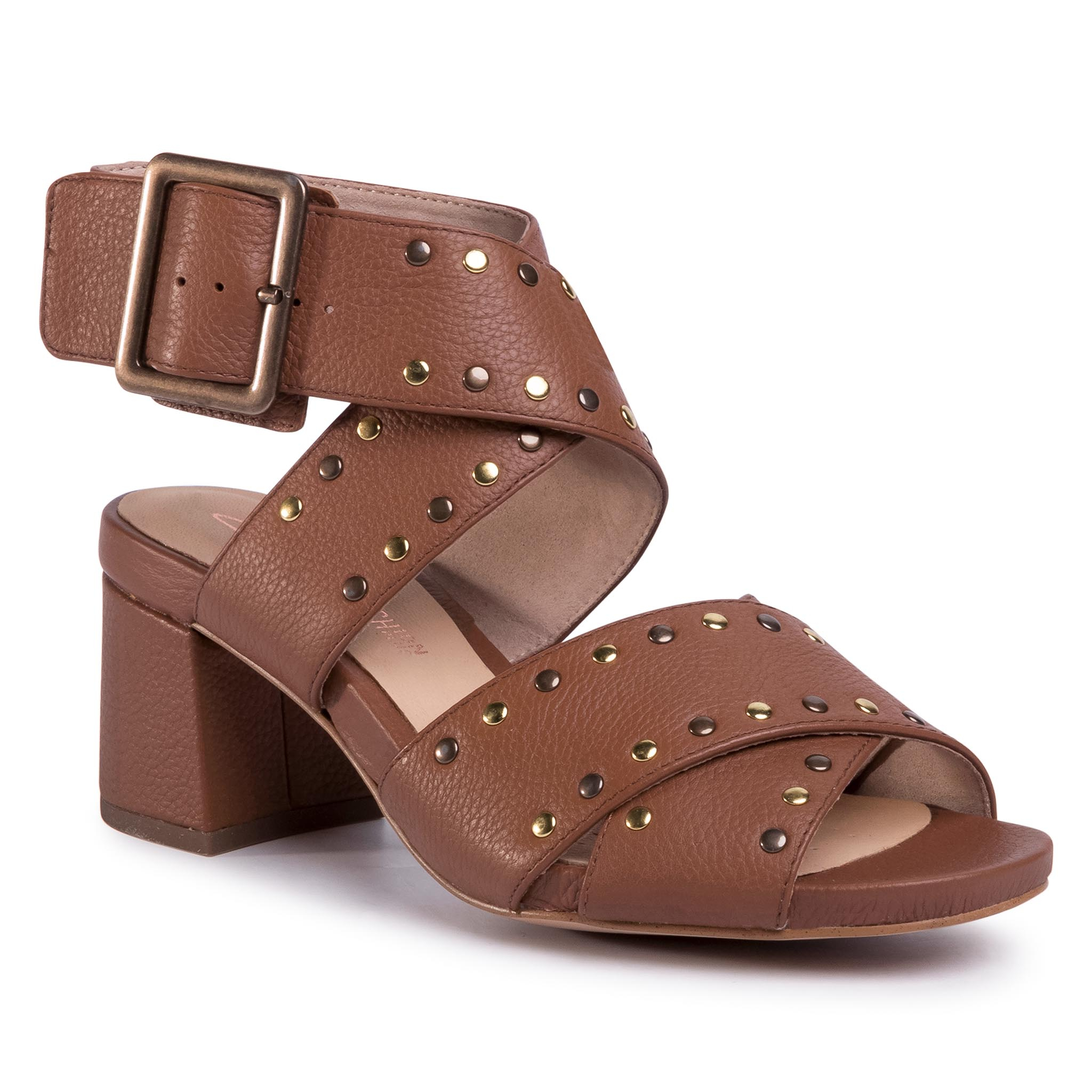Sandale CLARKS - Sheer55 Buckle 261492674 Tan Leather