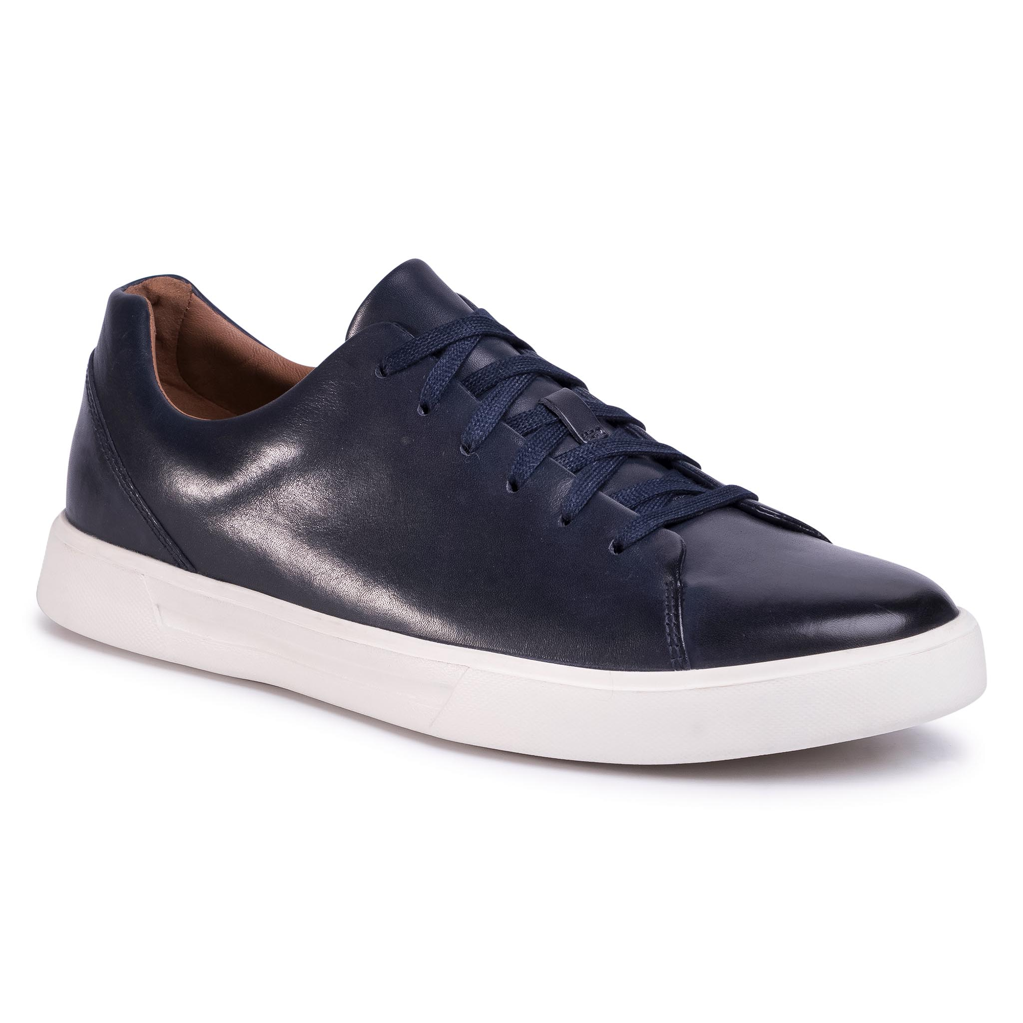 Sneakers Clarks - Un Costa Lace 261485577 Navy Leather imagine