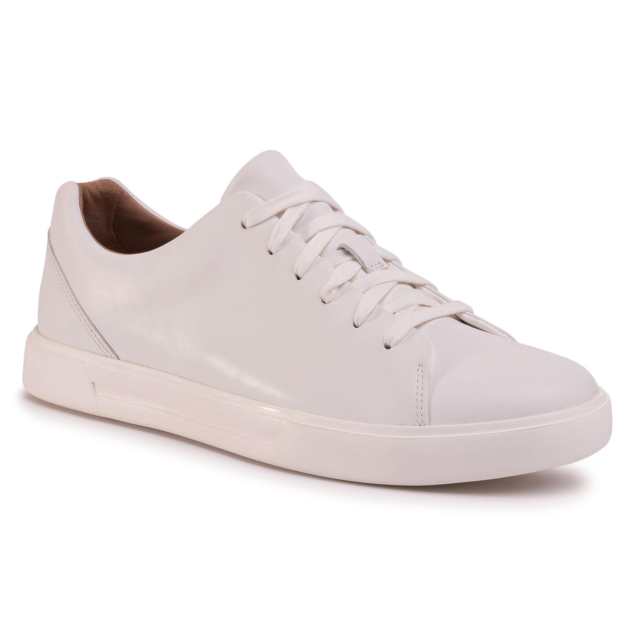 Sneakers CLARKS - Un Costa Lace 261401647 White Leather