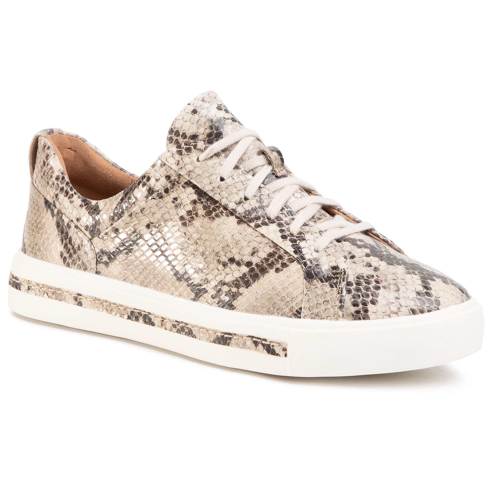 Sneakers CLARKS - Un Maui Lace 261461464 Natural Snake