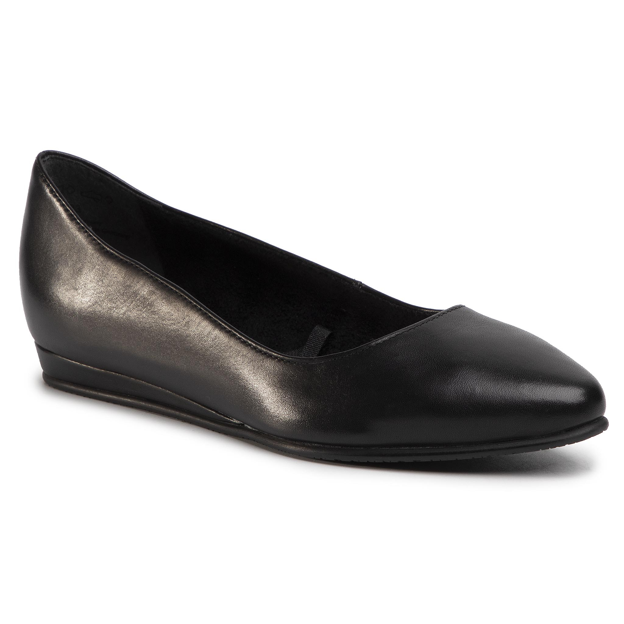 Balerini Tamaris - 1-22118-24 Black Leather 003 imagine epantofi.ro