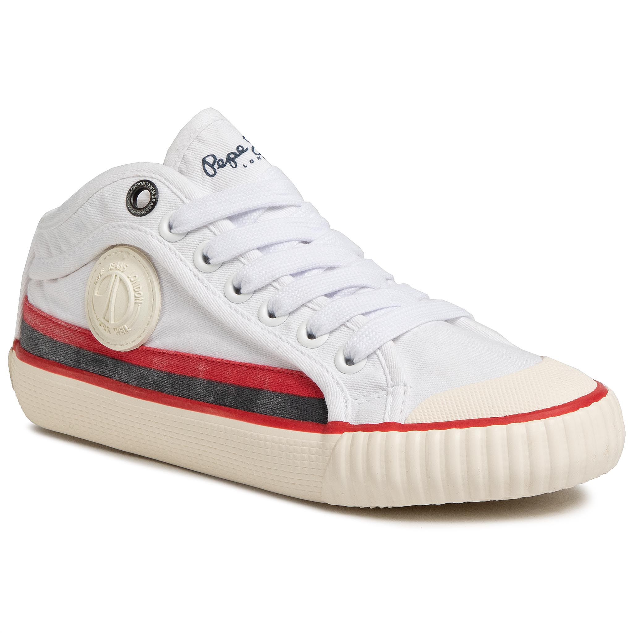 Teniși PEPE JEANS - Industry Surf PBS30426 White 800