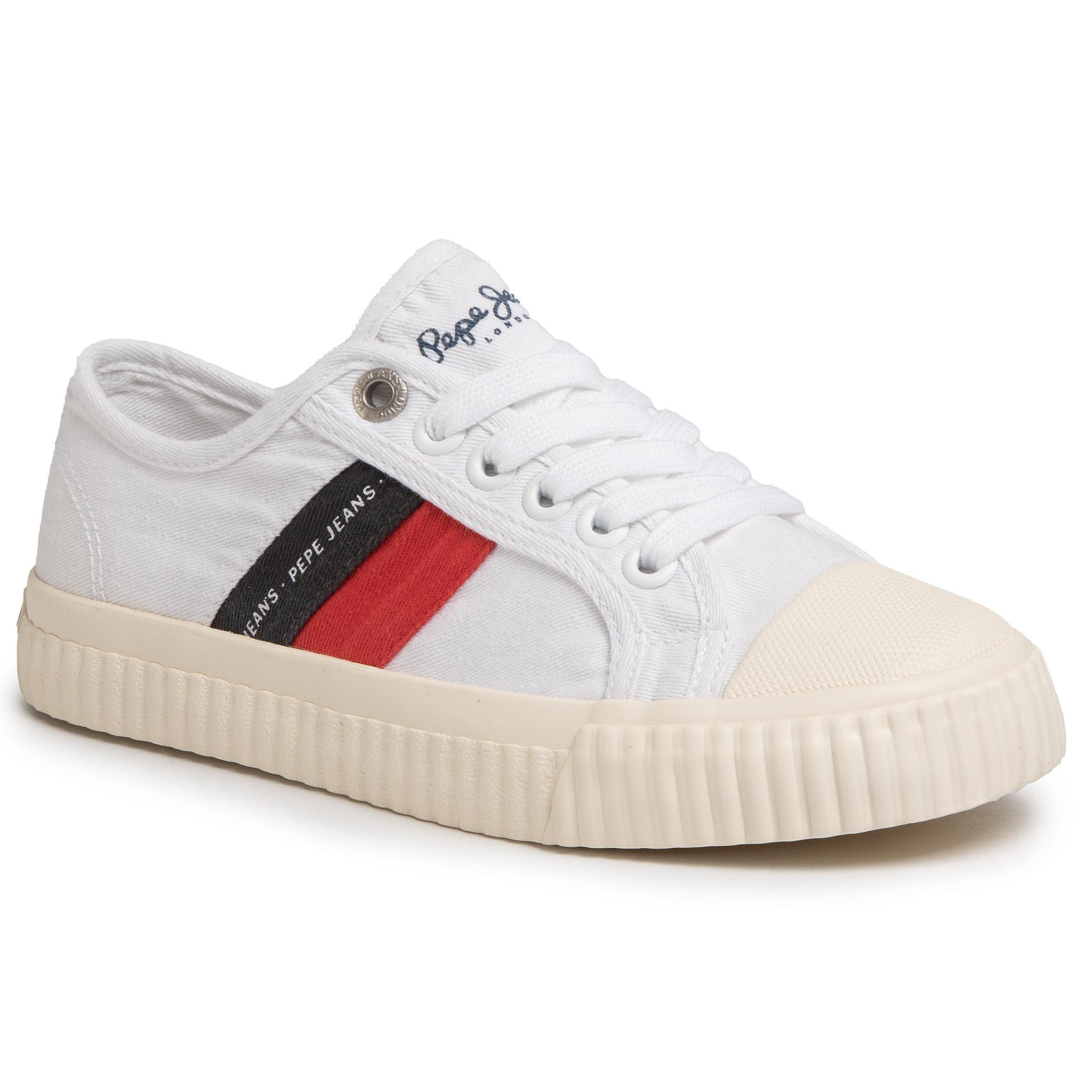 Teniși PEPE JEANS - Malibu Junior PBS30427 White 800