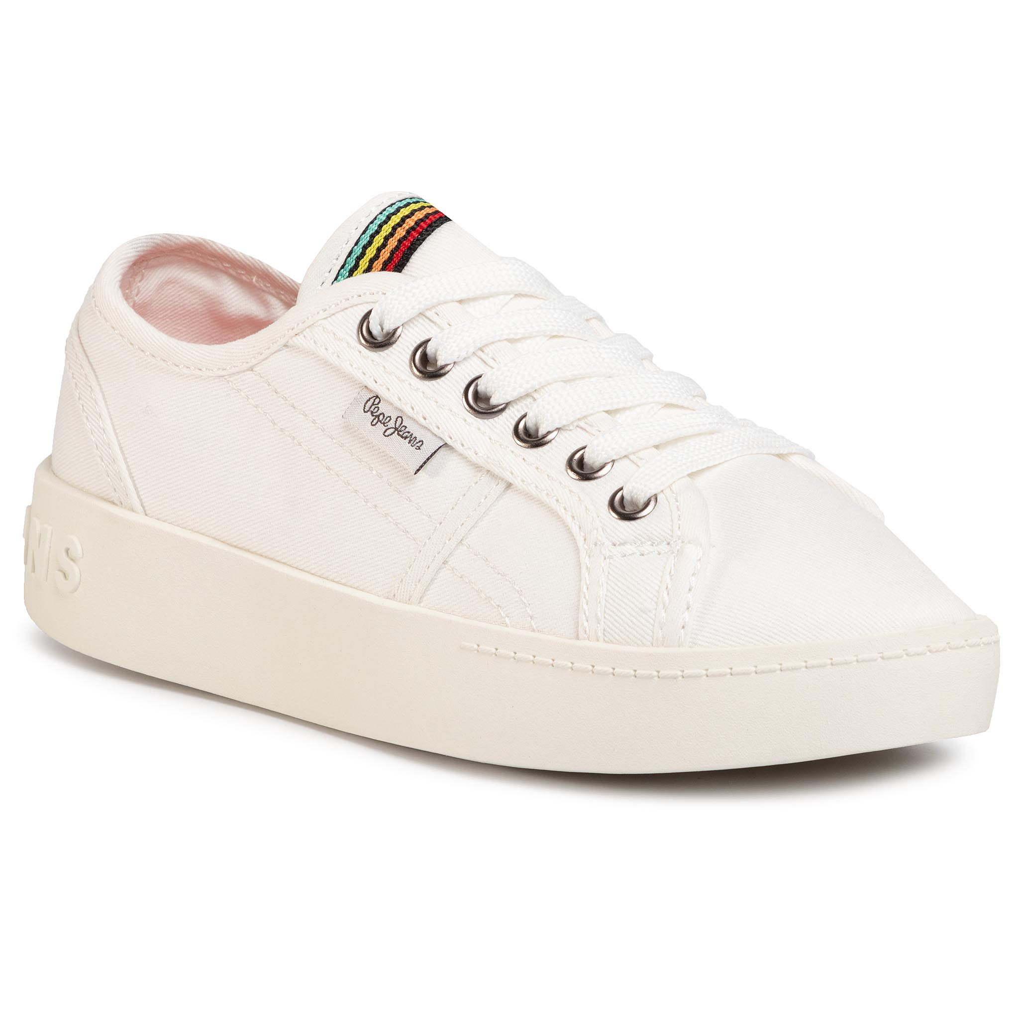 Sneakers PEPE JEANS - Brixton Canvas PGS30448 Off White 803
