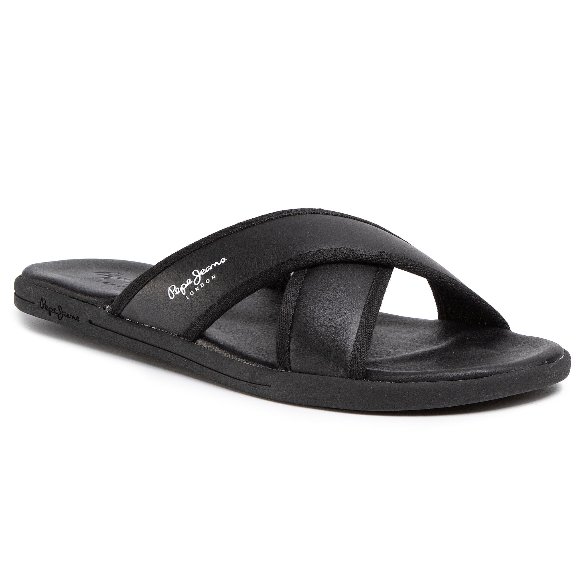 Șlapi PEPE JEANS - K-wai Basic Cross PMS90077 Black 999