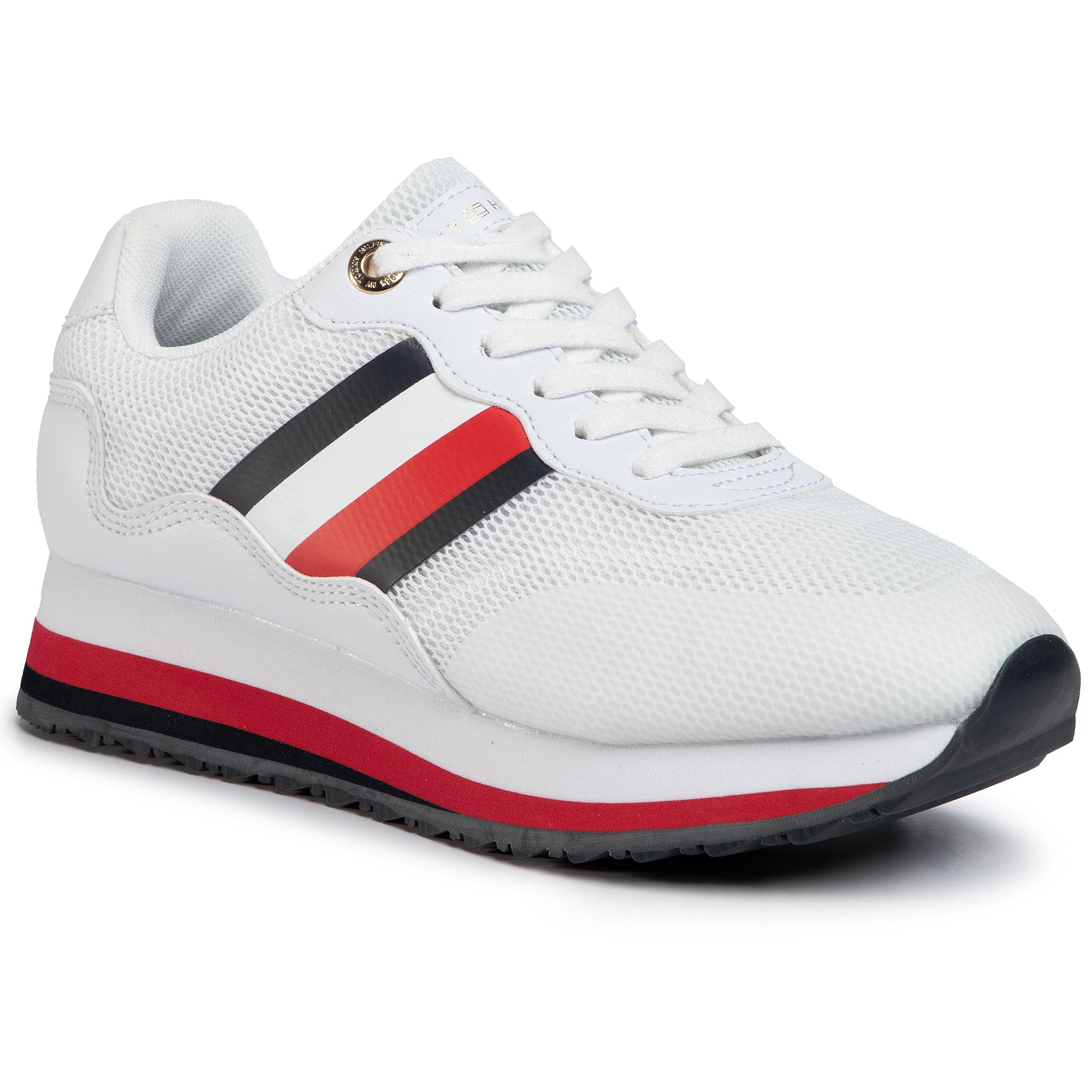 Sneakers TOMMY HILFIGER - Sporty Tommy Retro Runner FW0FW04688 White YBS