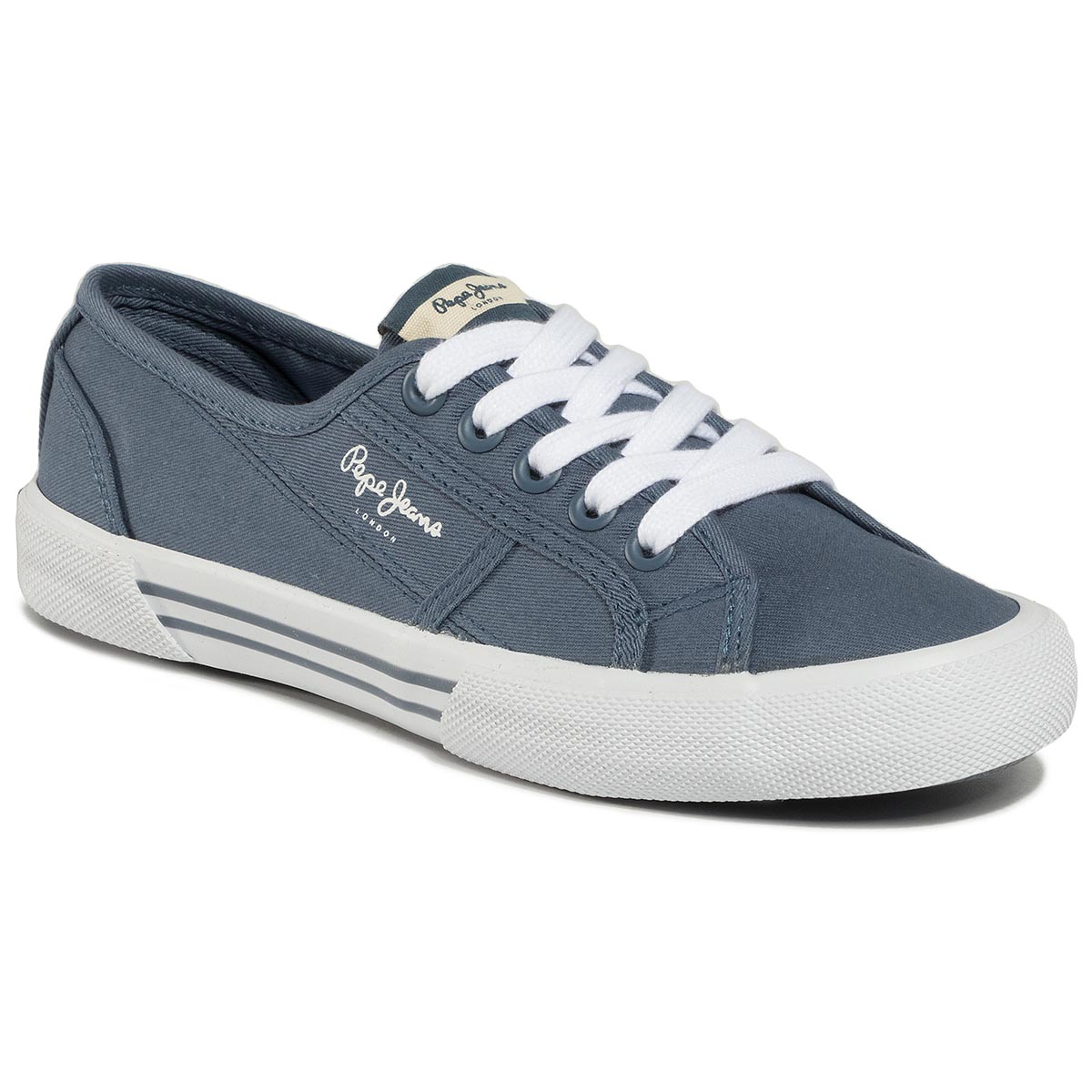 Teniși Pepe Jeans - Aberlady Eco Pls31016 Pop Blue 570 imagine epantofi.ro 2021