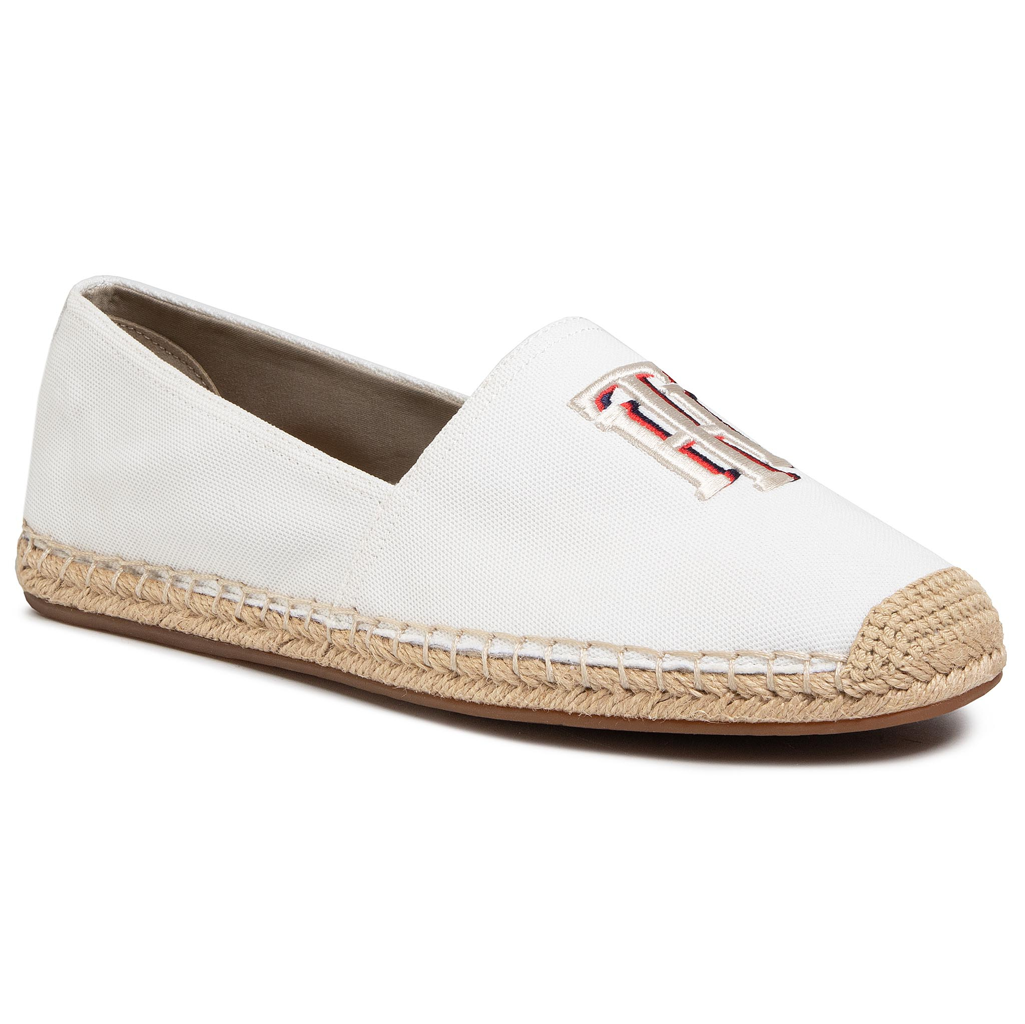 Espadrile TOMMY HILFIGER - Nautical Th Basic Espadrille FW0FW04750 Ivory YBI