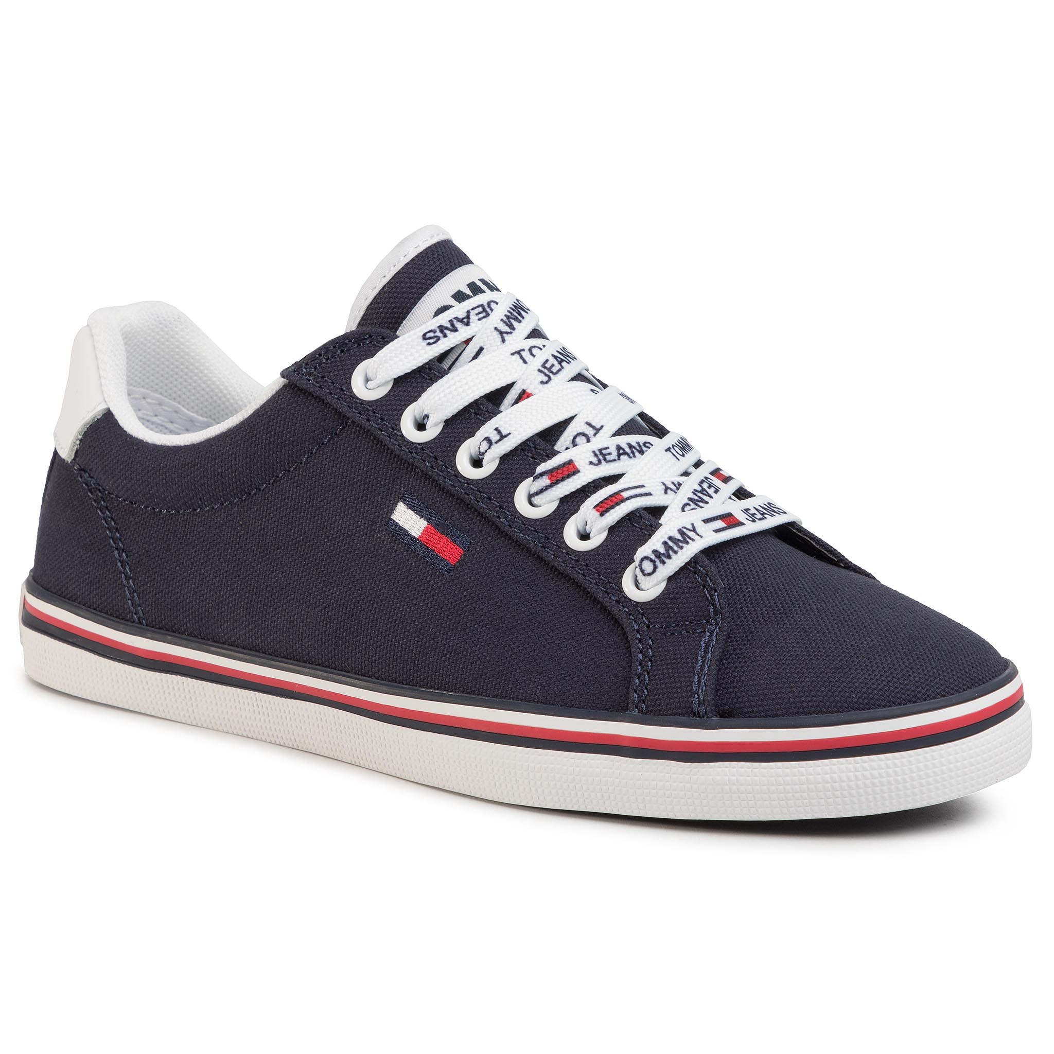 Teniși TOMMY JEANS - Essential Lace Up Sneaker EN0EN00786 Twilight Navy C87