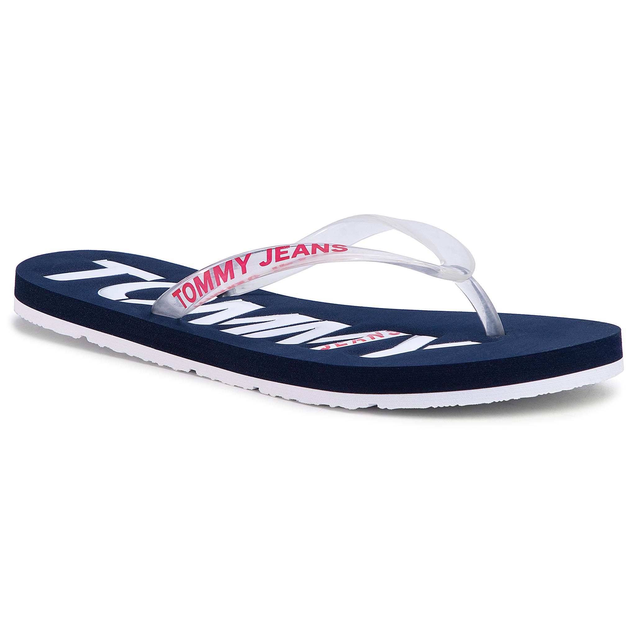 Flip flop TOMMY JEANS - Pop Color Beach Sandal EN0EN00849 Twilight Navy C87