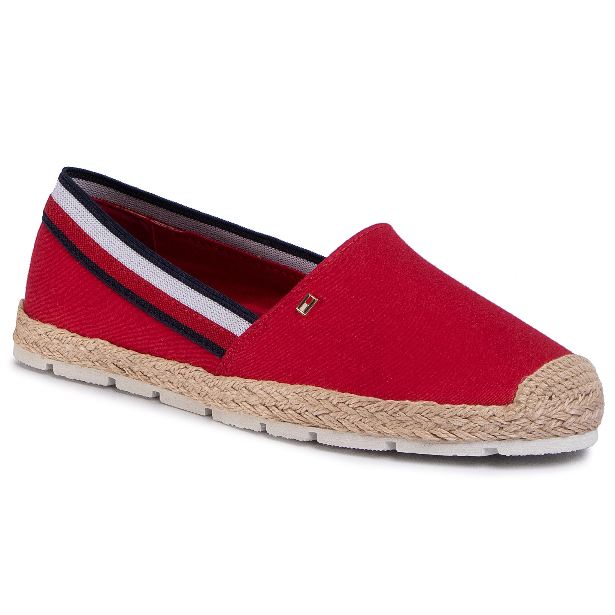 Espadrile TOMMY HILFIGER - Basic Tommy Corporate Espadrille FW0FW04738 Primary Red XLG
