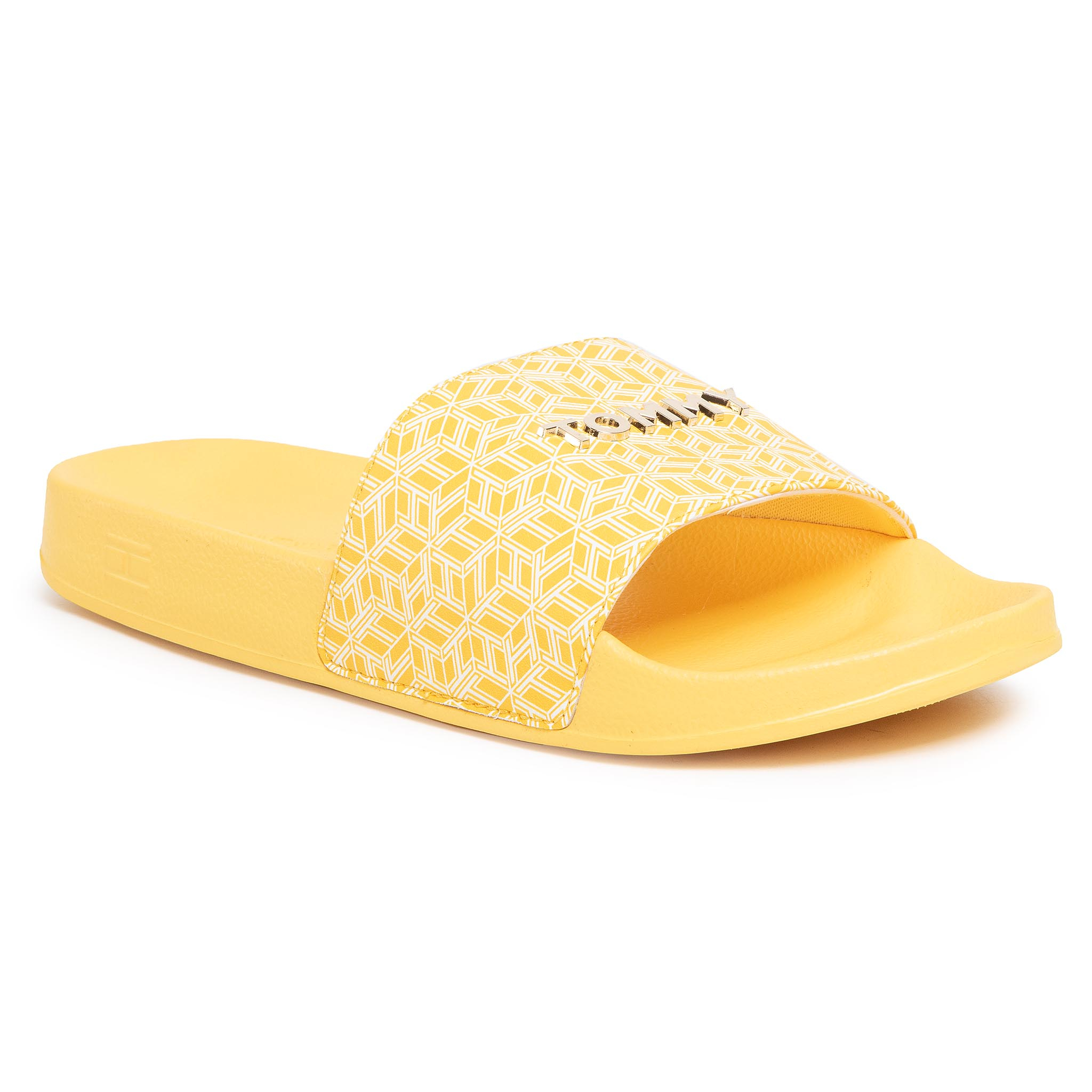 Șlapi TOMMY HILFIGER - Th Monogram Allover Pool Slide FW0FW04813 Sunny ZEK