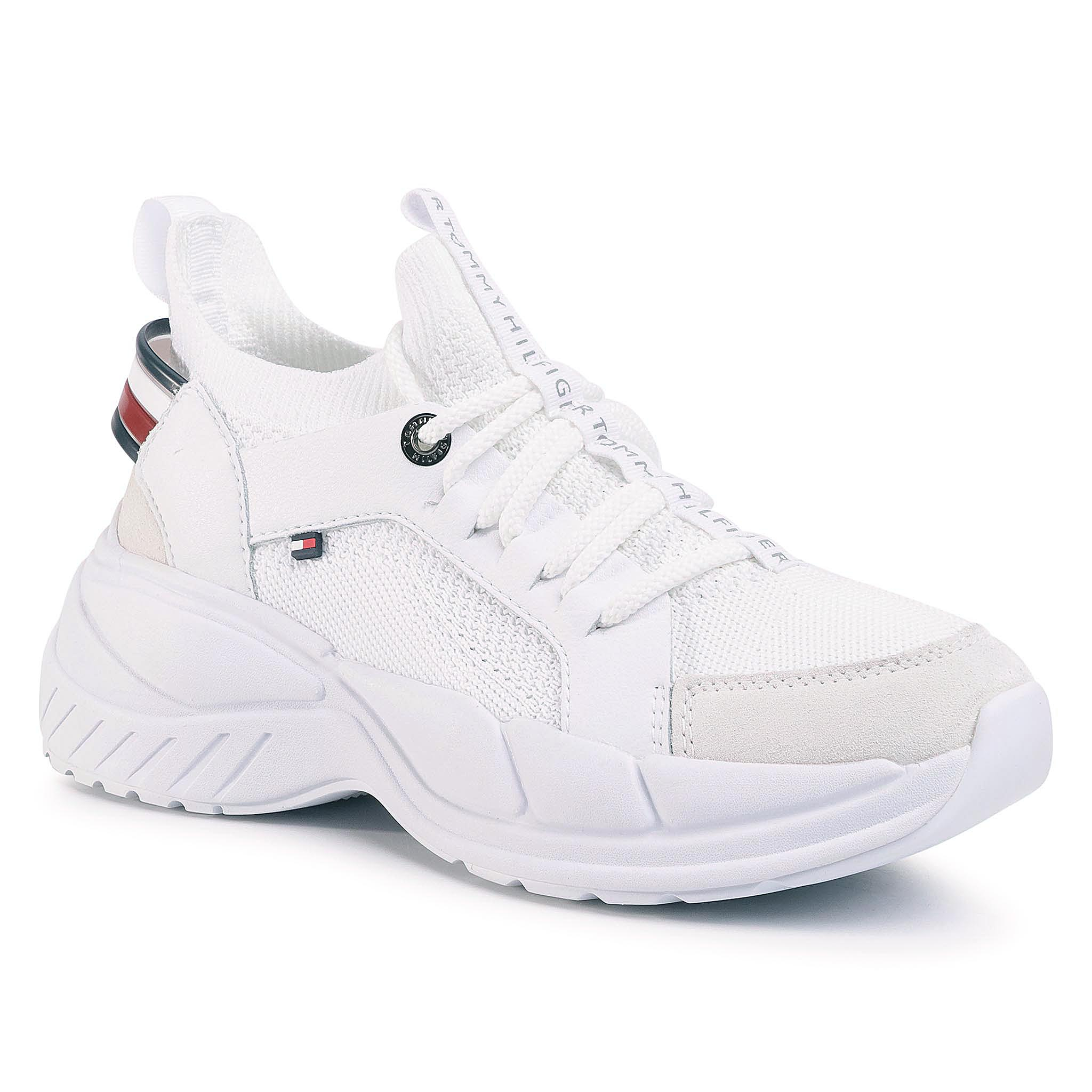 Sneakers TOMMY HILFIGER - New Chunky Tommy Sneaker FW0FW04826 White YBS