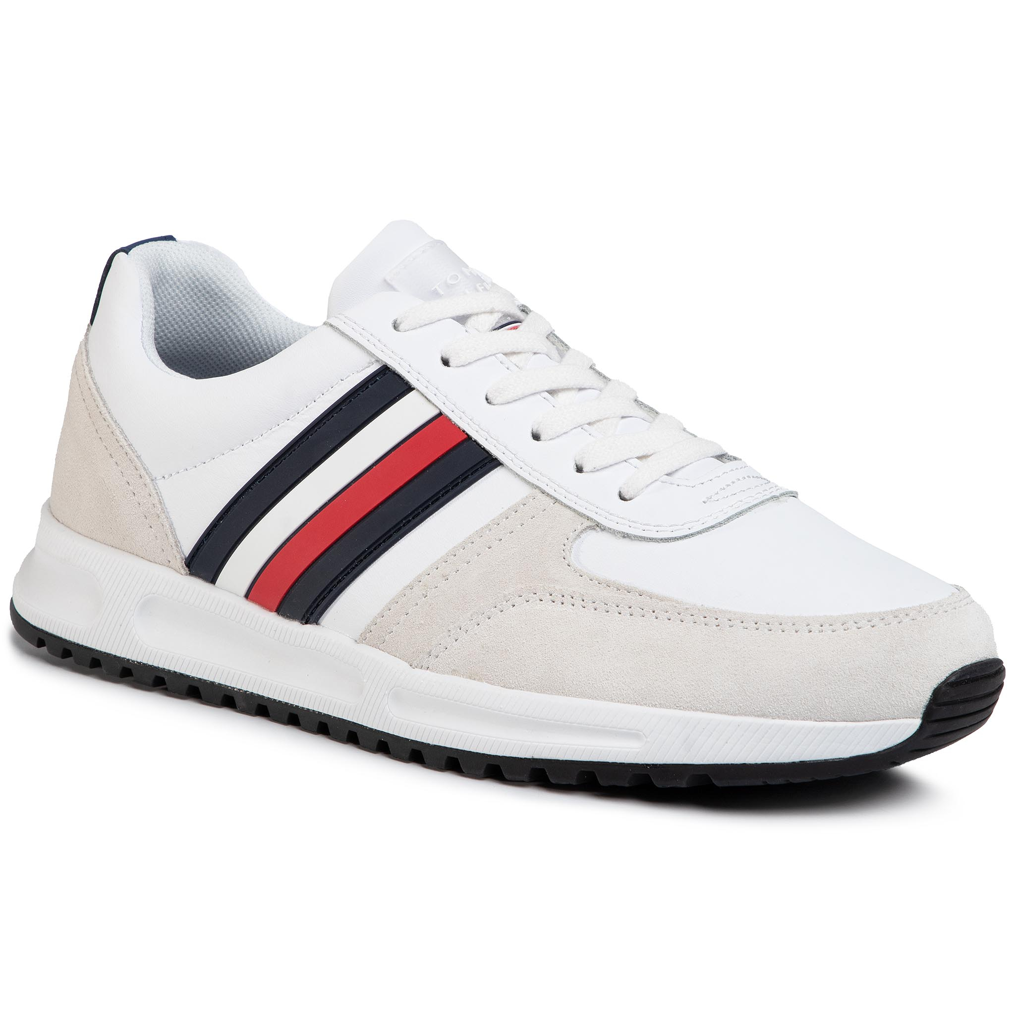 Sneakers Tommy Hilfiger - Modern Corporate Leather Runner Fm0fm02662 White Ybs imagine