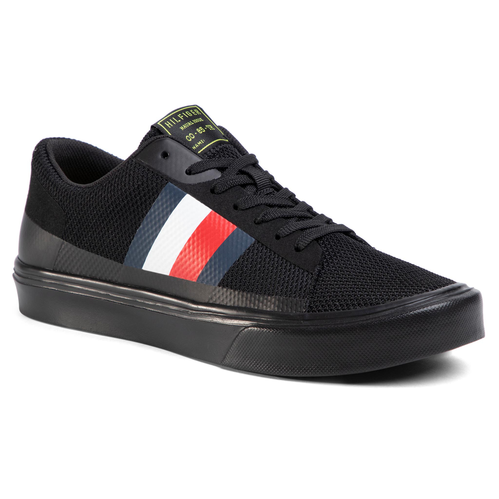 Sneakers TOMMY HILFIGER - Lightweight Stripes Knit Sneaker FM0FM02689B Black BDS