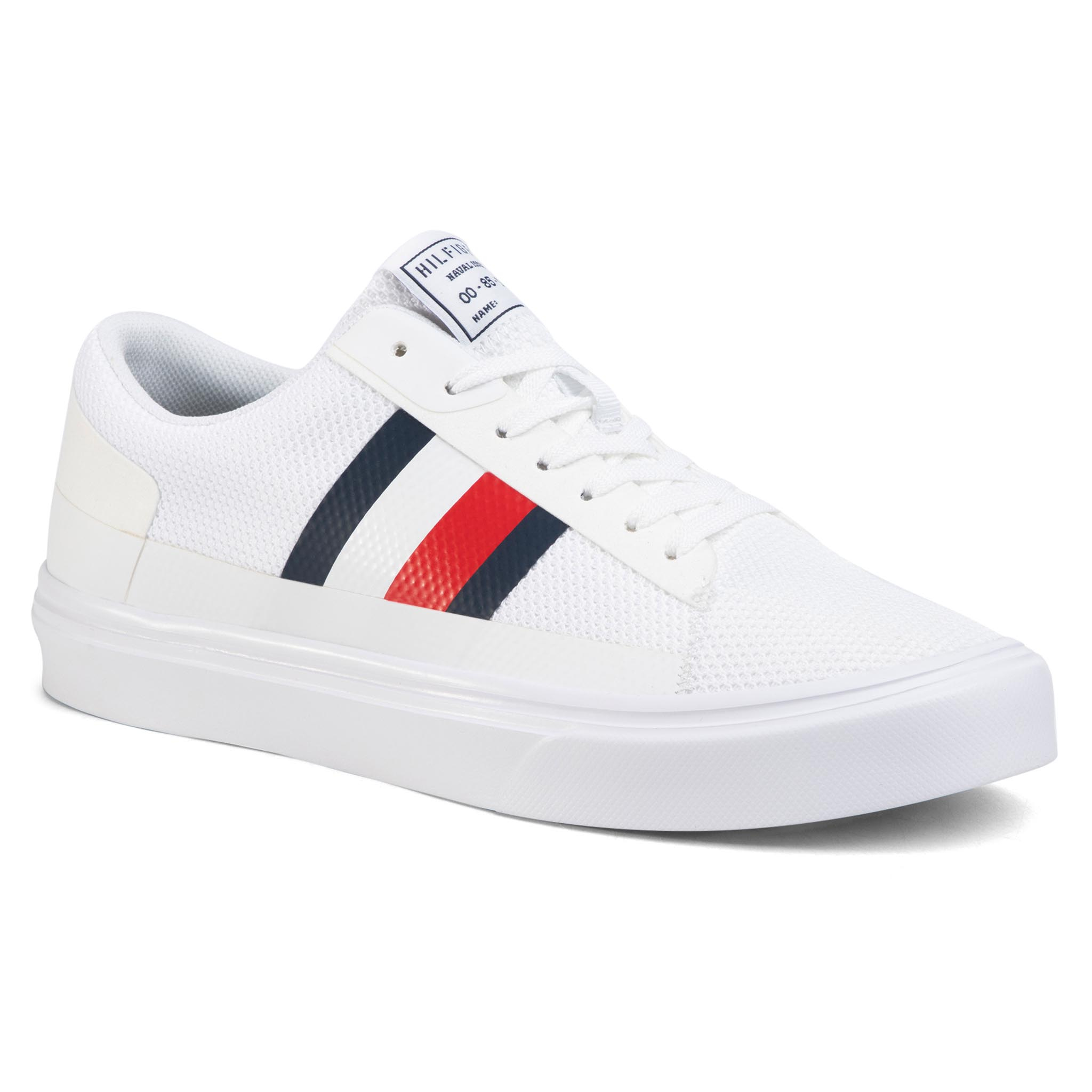 Sneakers TOMMY HILFIGER - Lightweight Stripes Knit Sneaker FM0FM02689 White YBS