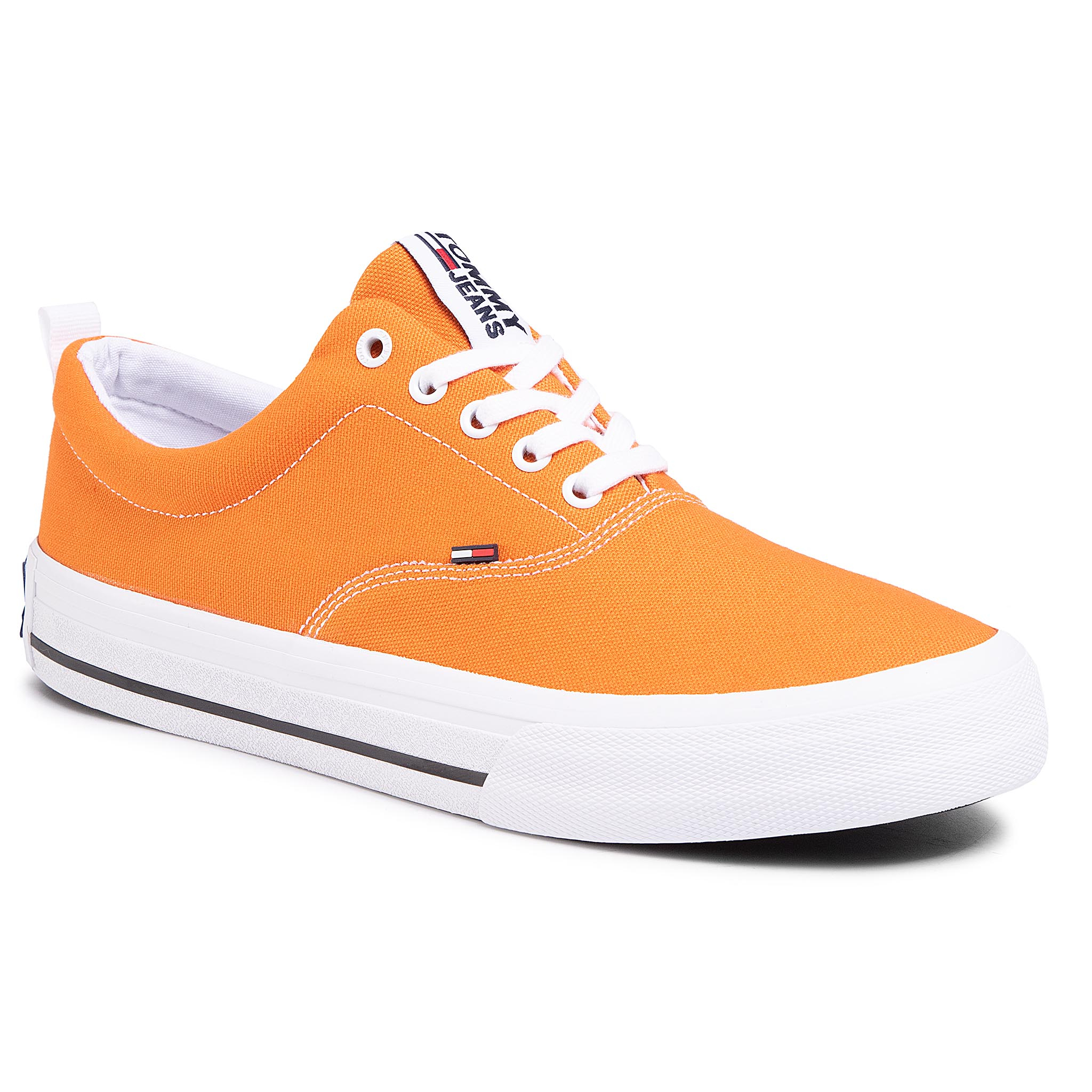 Teniși Tommy Jeans - Classic Low Tommy Jeans Sneaker Em0em00405 Paradise Orange Sfa imagine epantofi.ro 2021