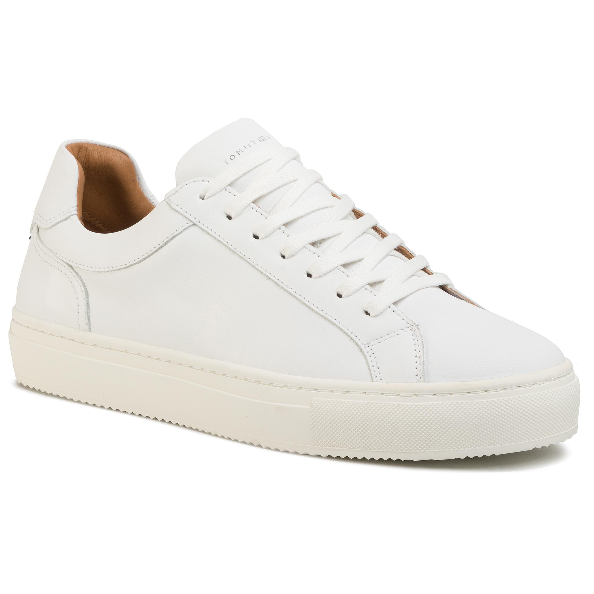 Sneakers TOMMY HILFIGER - Premium Cupsole Leather FM0FM02658 White YBS
