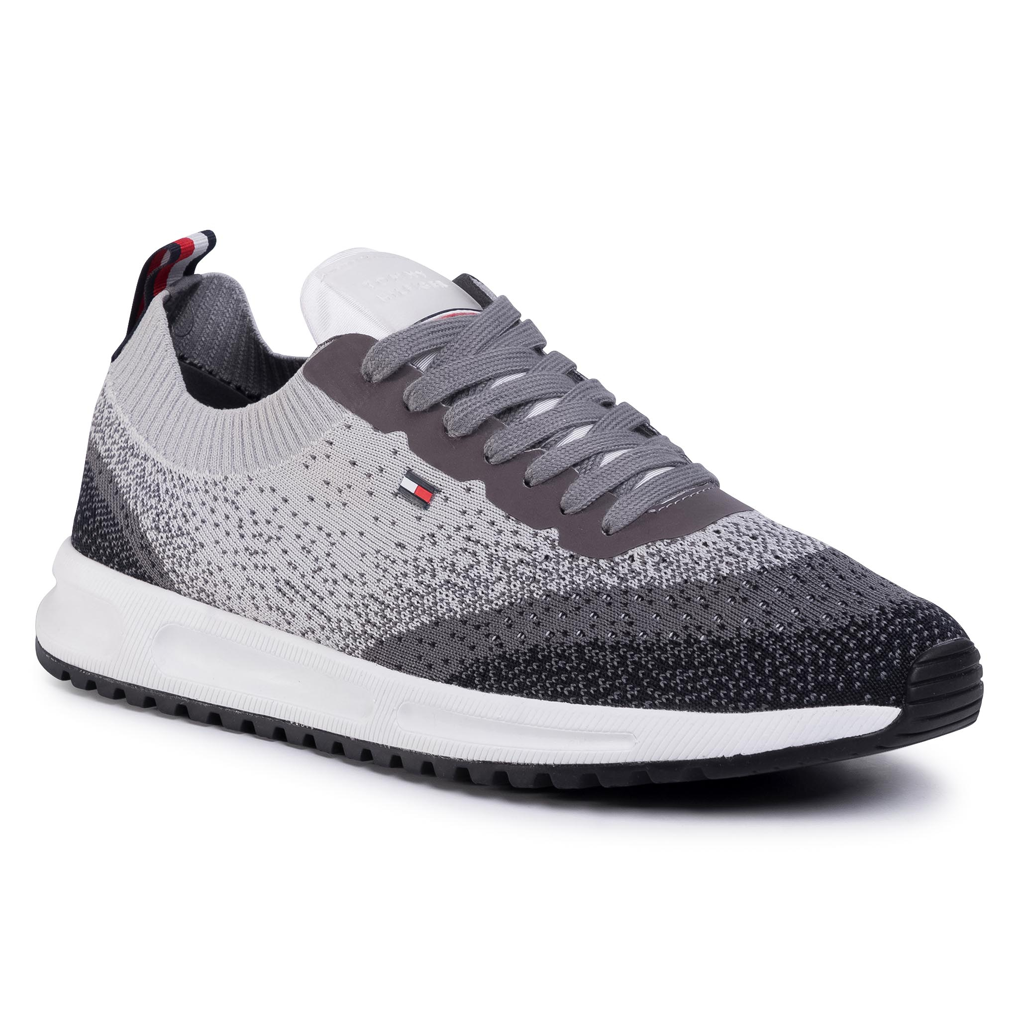 Sneakers TOMMY HILFIGER - Modern Knit Runner FM0FM02663 Pewter Grey PQ8
