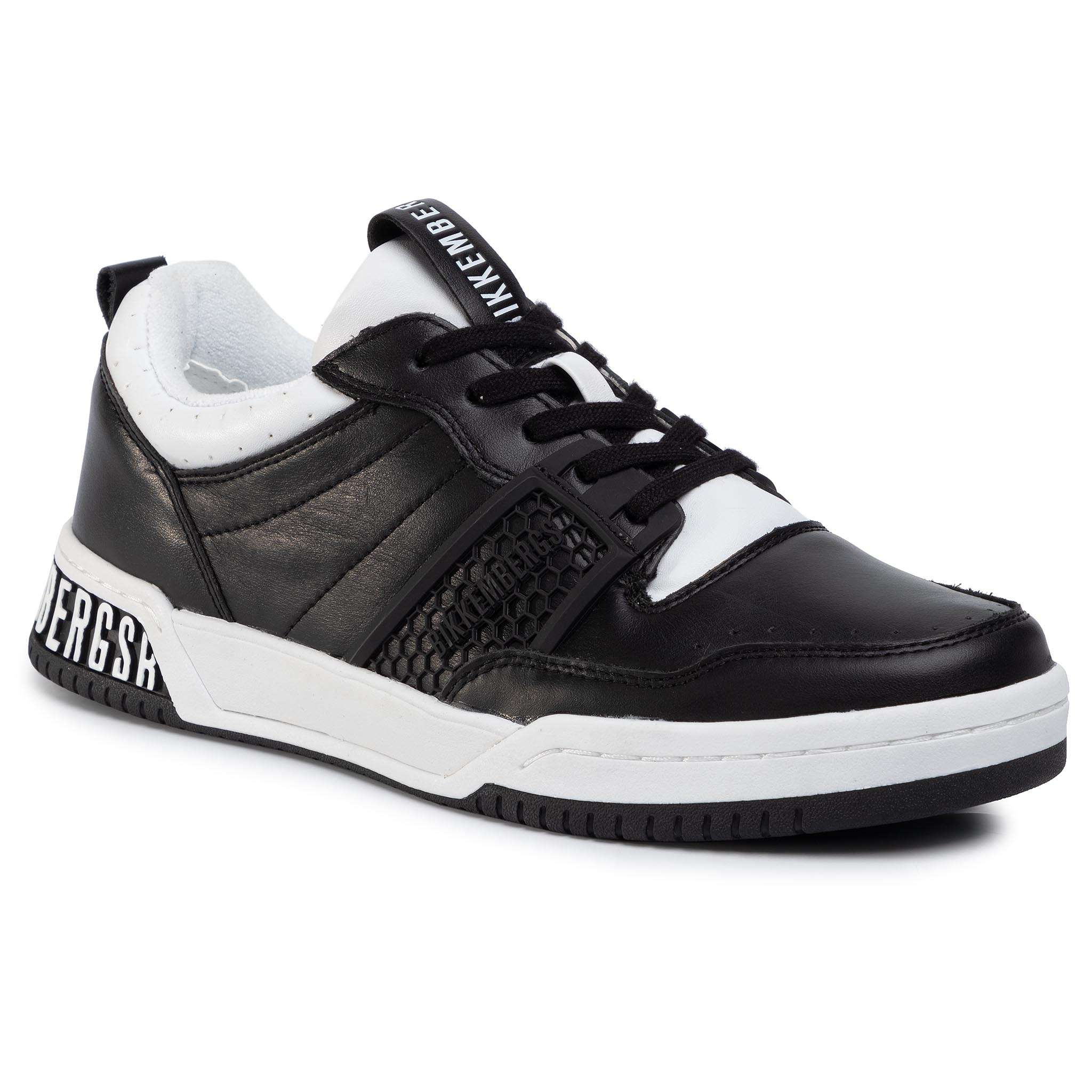 Sneakers BIKKEMBERGS - Low Top Lace Up B4BKM0085 Black/White