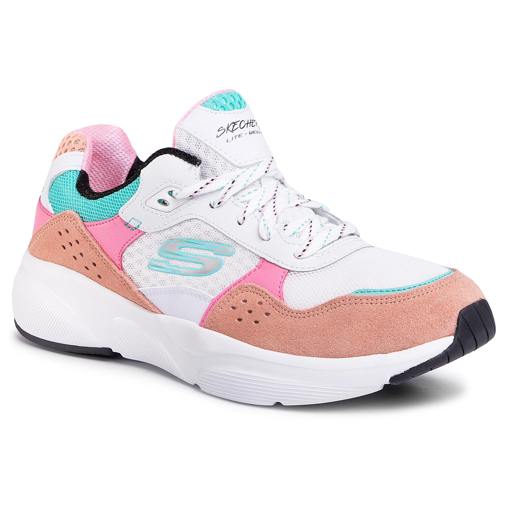Sneakers SKECHERS - Charted 13019/WPKB White/Pink/Blue