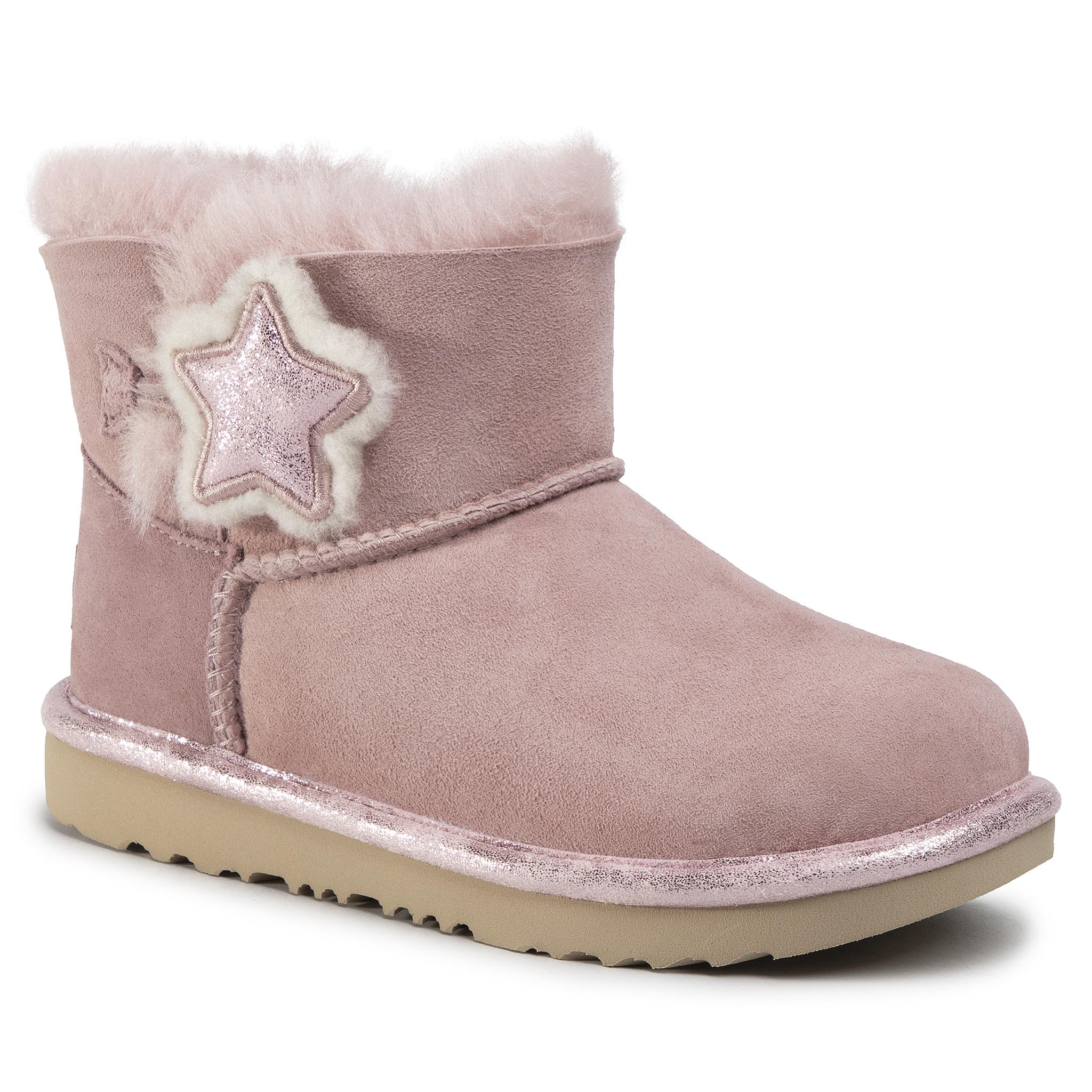 Pantofi Ugg - K Mini Bailey Button Ii Star 1107969k Pcry imagine epantofi.ro 2021