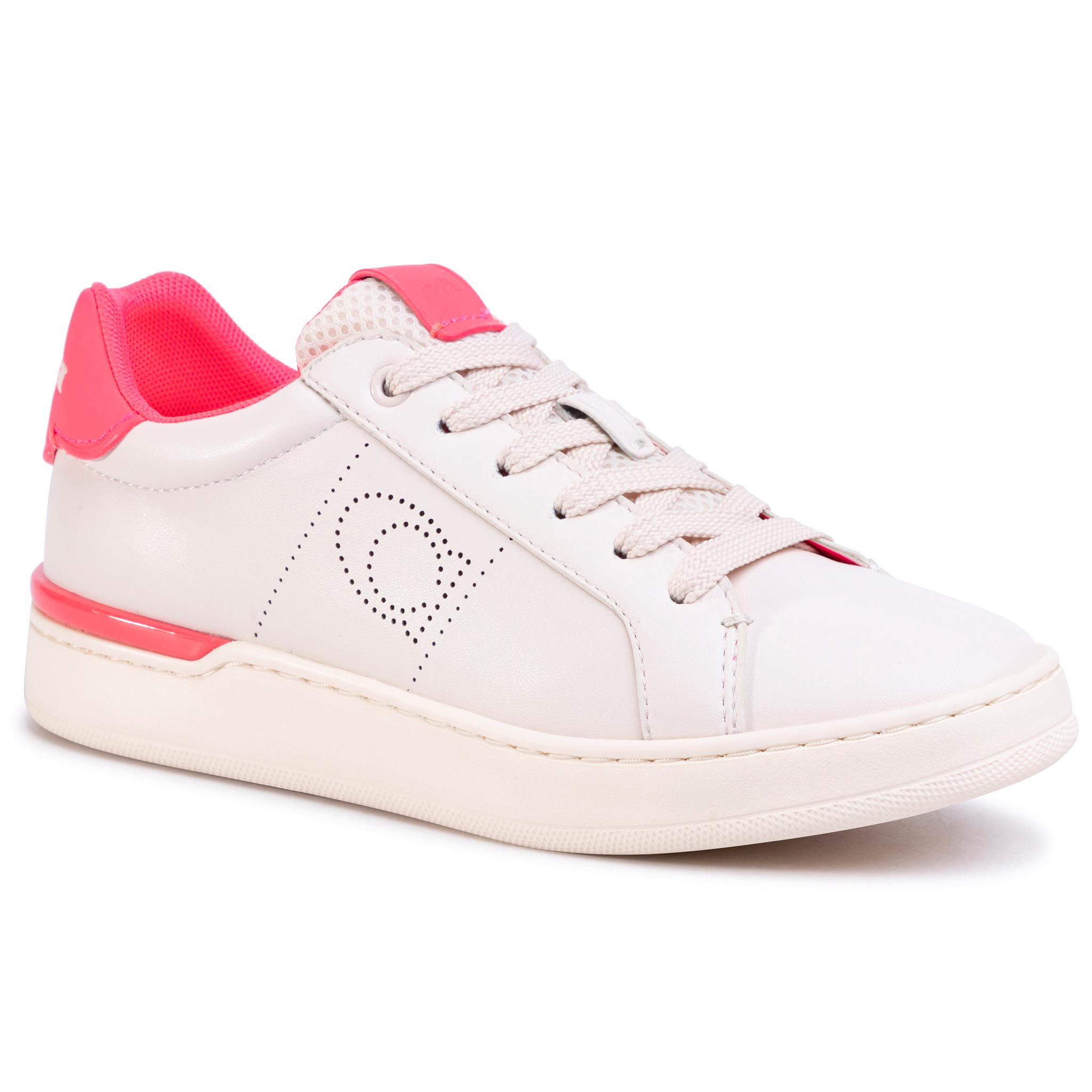 Sneakers COACH - Lowline Ltr Low Top G5040 10011275 Chalk/Neon Pink
