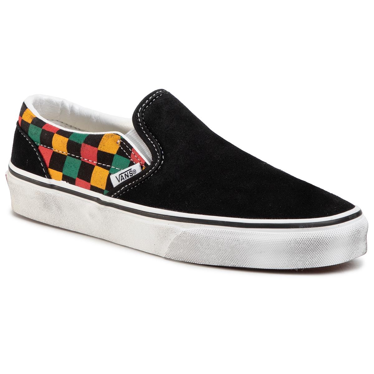 Teniși Vans - Classic Slip-On Vn0a4u38thn1 (Washed) Black/Multi imagine epantofi.ro 2021