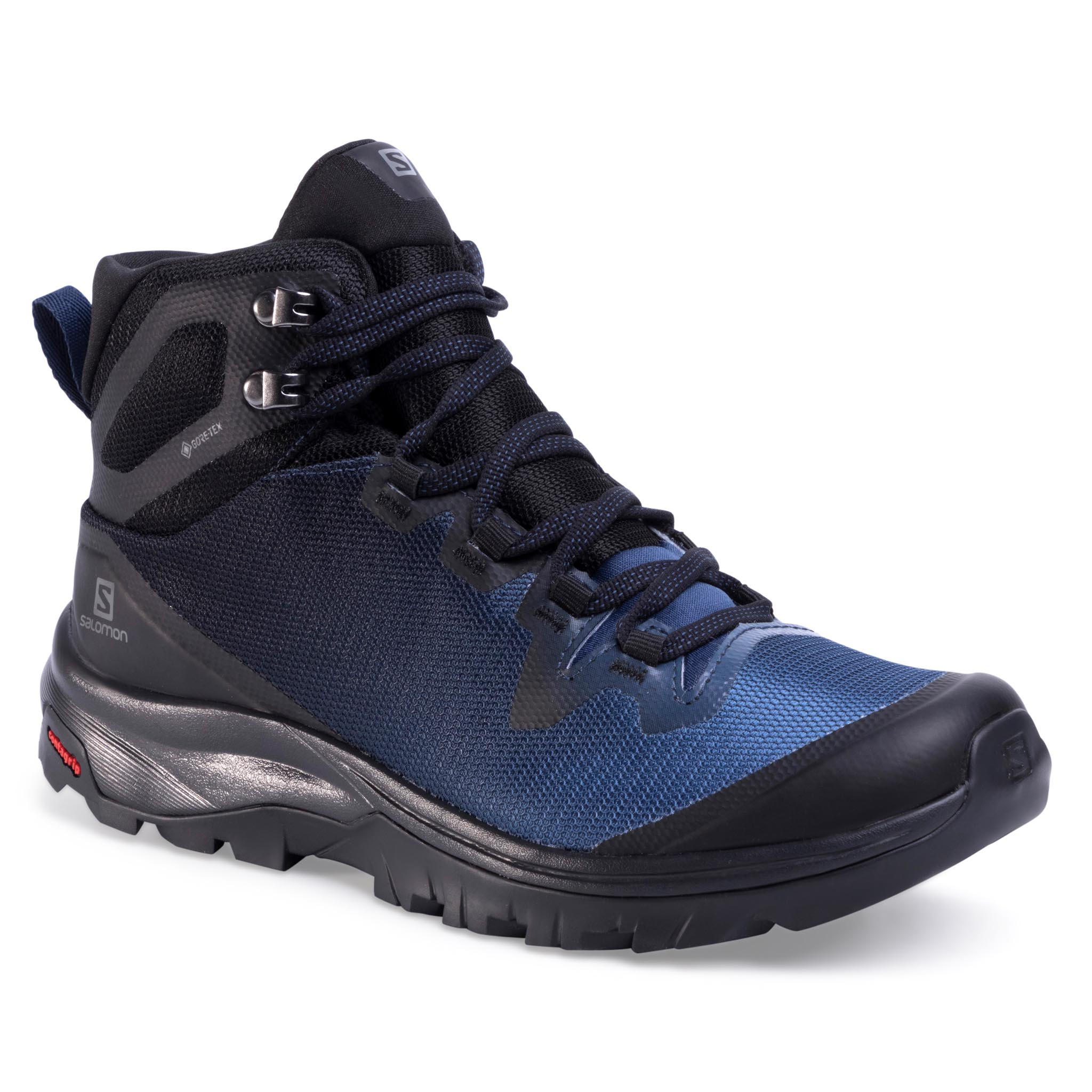 Trekkings Salomon - Vaya Mid Gtx 409851 24 V0 Black/Sargasso Sea/Black imagine epantofi.ro 2021