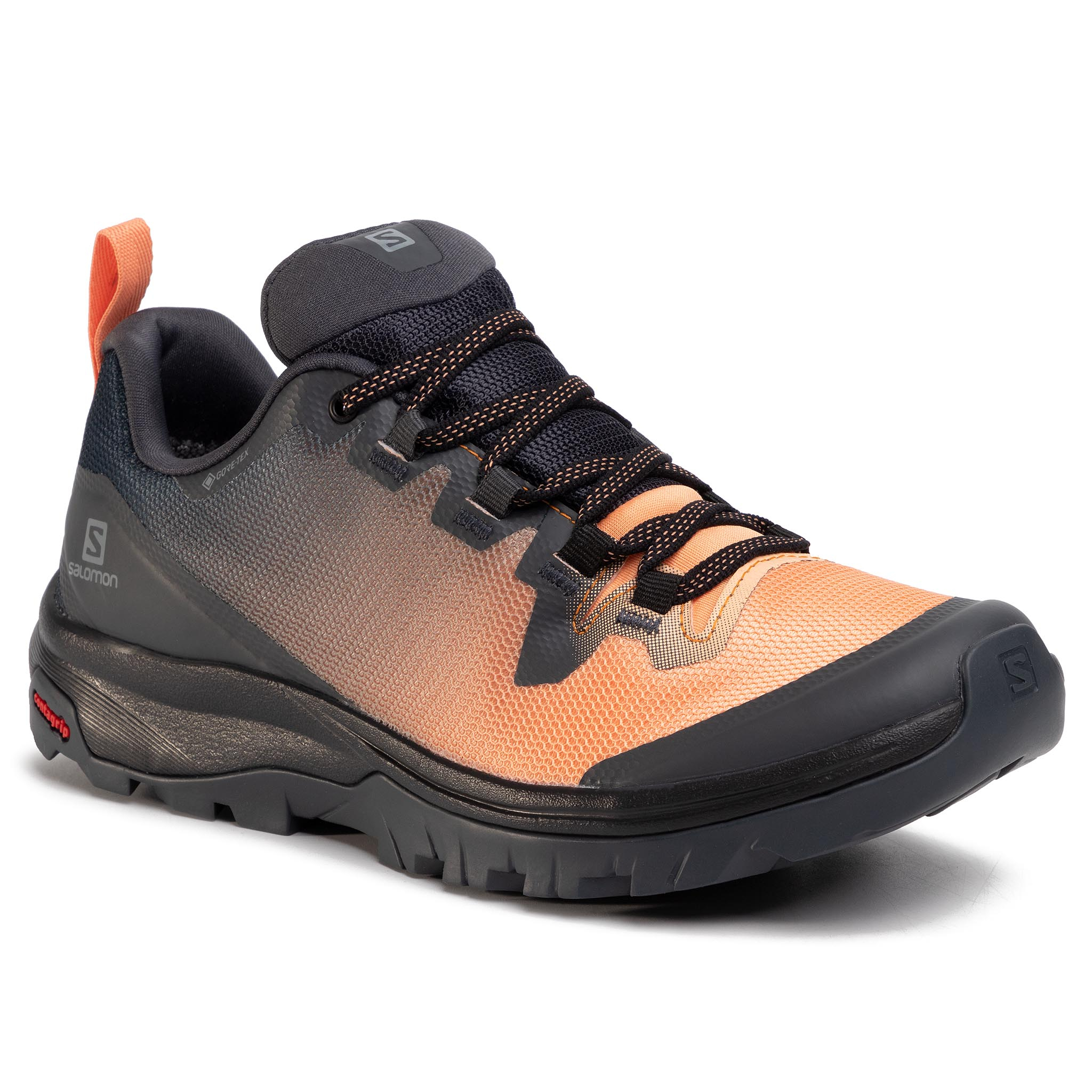 Trekkings Salomon - Vaya Gtx Gore-Tex 409897 20 V0 Ebony/Cantaloupe/Black imagine epantofi.ro 2021