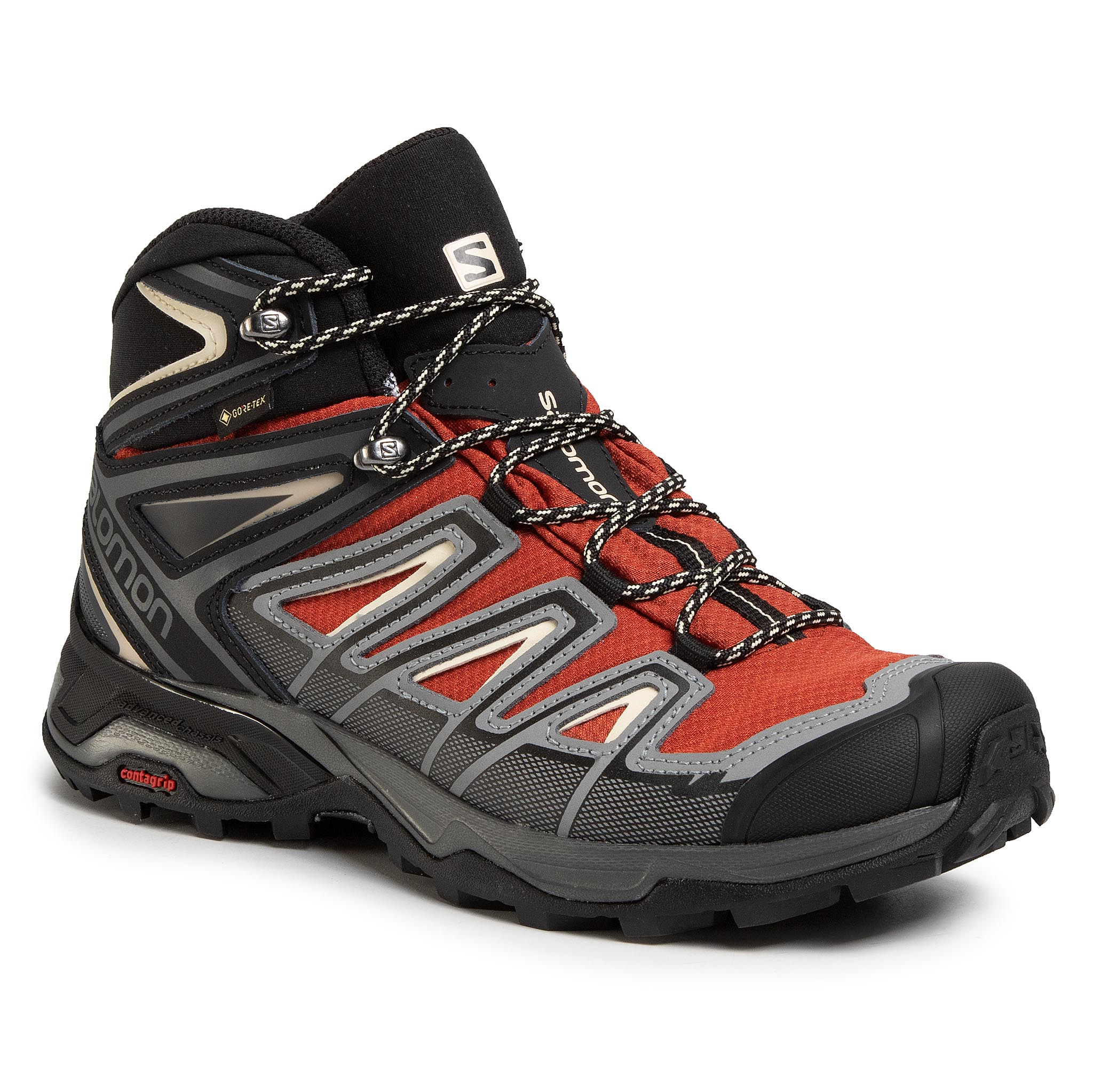 Trekkings Salomon - X Ultra 3 Mid Gtx Gore-Tex 409905 27 W0 Burnt Brick/Black/Bleached Sand imagine epantofi.ro 2021