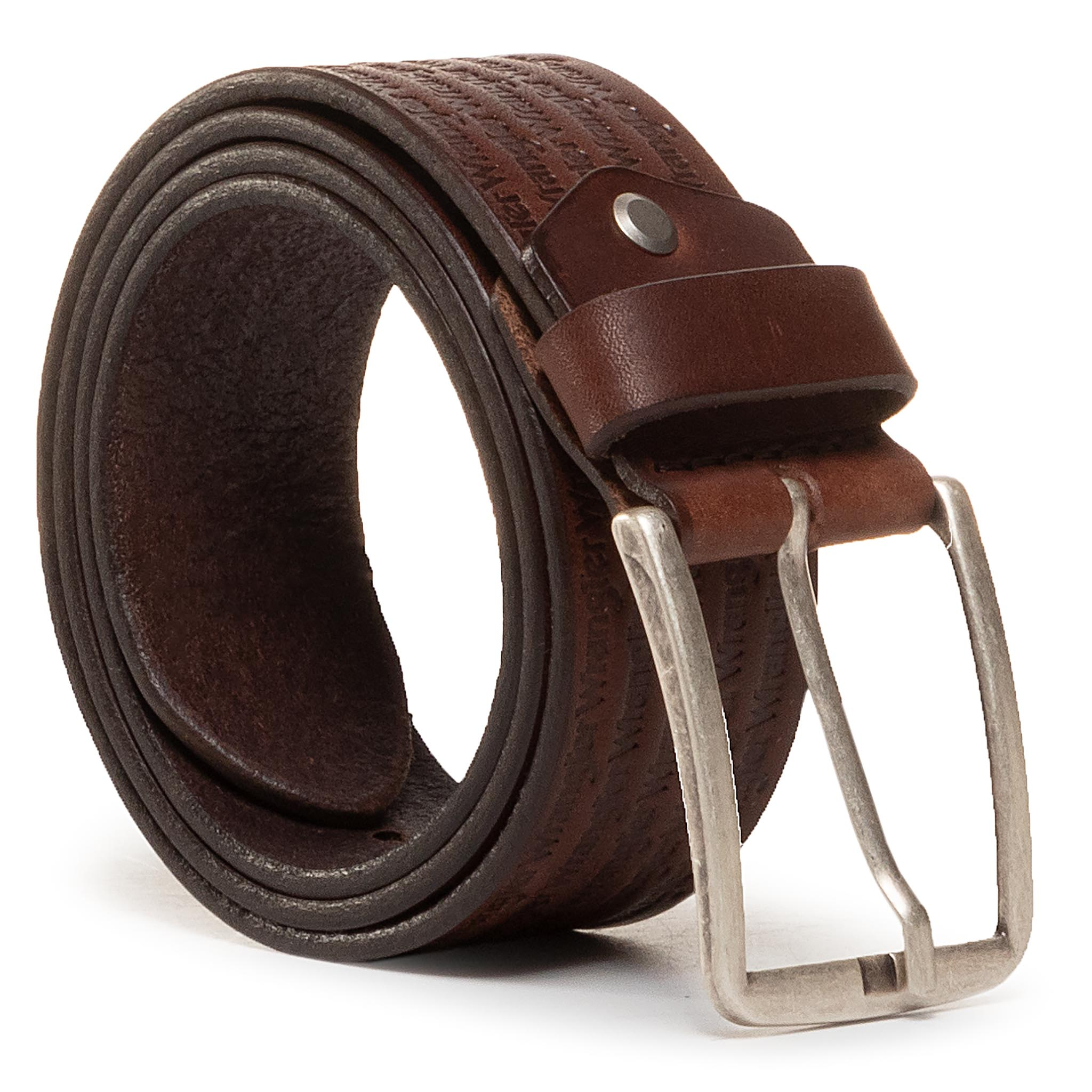 Curea Pentru Bărbați Wrangler - Allover Kabel Buckle W0c7u1x85 Brown imagine epantofi.ro 2021