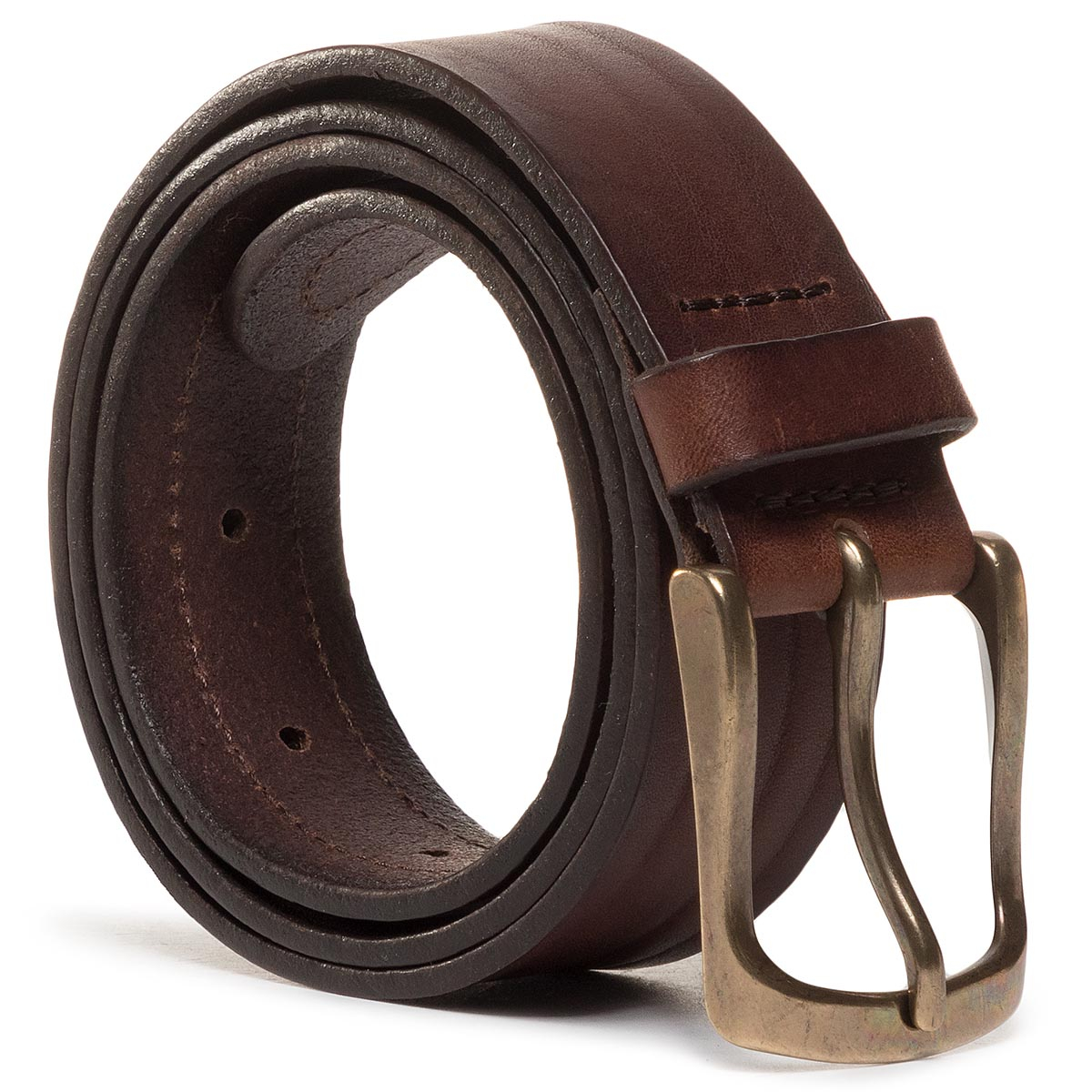 Curea Pentru Bărbați Wrangler - Double Layer Belt W0d1u1x85 Brown imagine epantofi.ro 2021