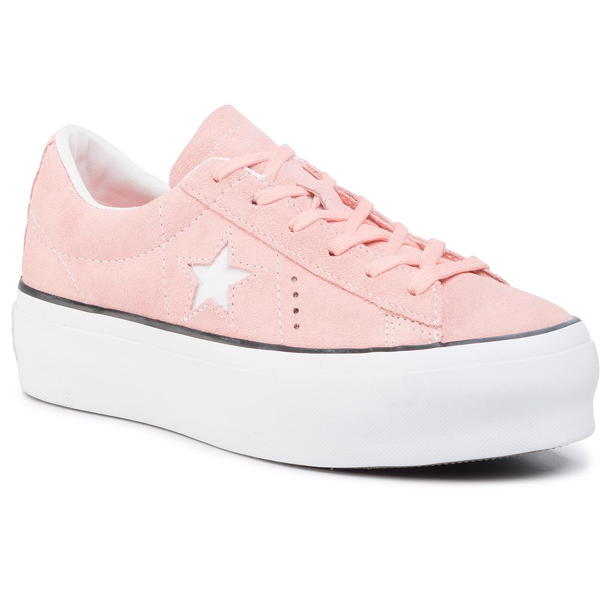 Sneakers CONVERSE - One Star Platform Ox Bleached Coral/Black/White