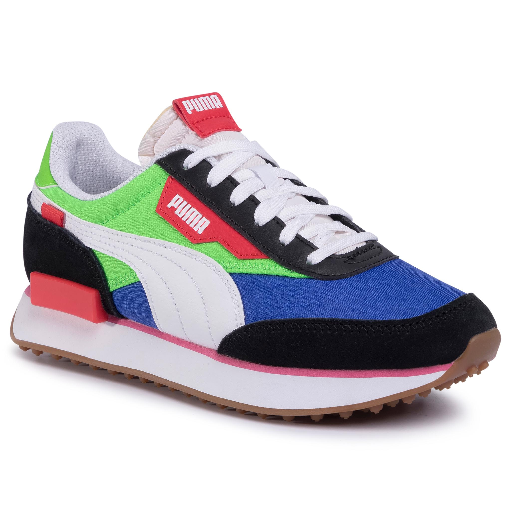 Sneakers PUMA - Future Rider Play On Jr 372349 01 PumaB/Fluo Green/Dazzing Blue