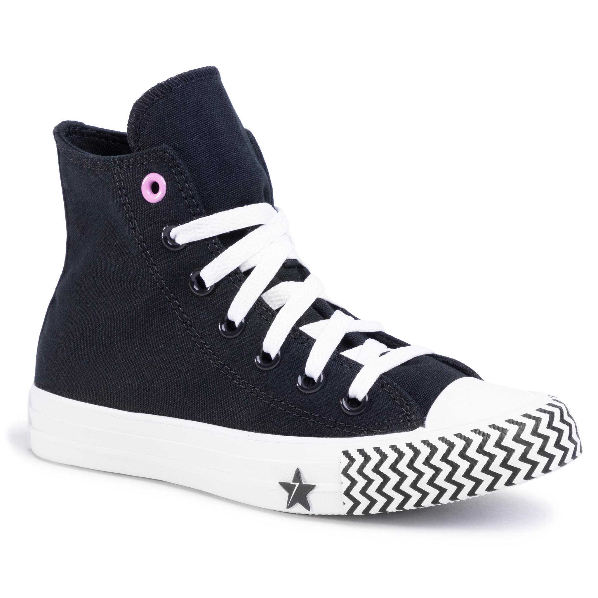 Teniși Converse - Ctas Hi 566731c Black/University Red/White imagine epantofi.ro 2021