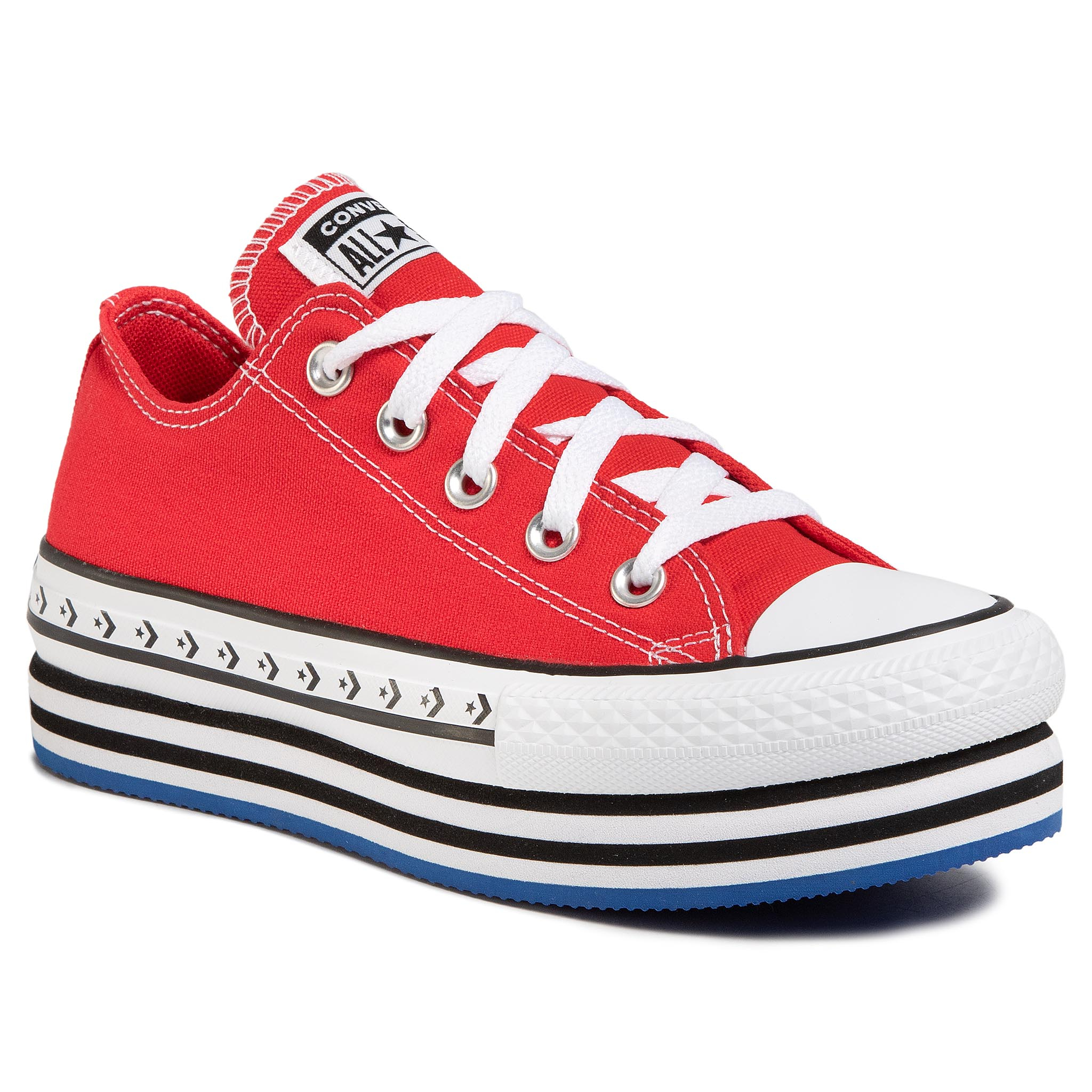 Teniși Converse - Ctas Platform Layer Ox 566763c University Red/White/Black imagine epantofi.ro 2021