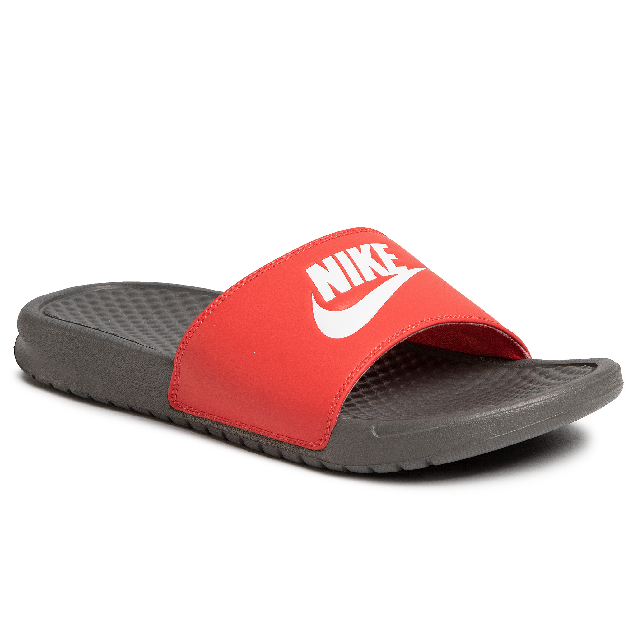 Șlapi NIKE - Benassi Jdi 343880 028 Iron Grey/White/Track Red