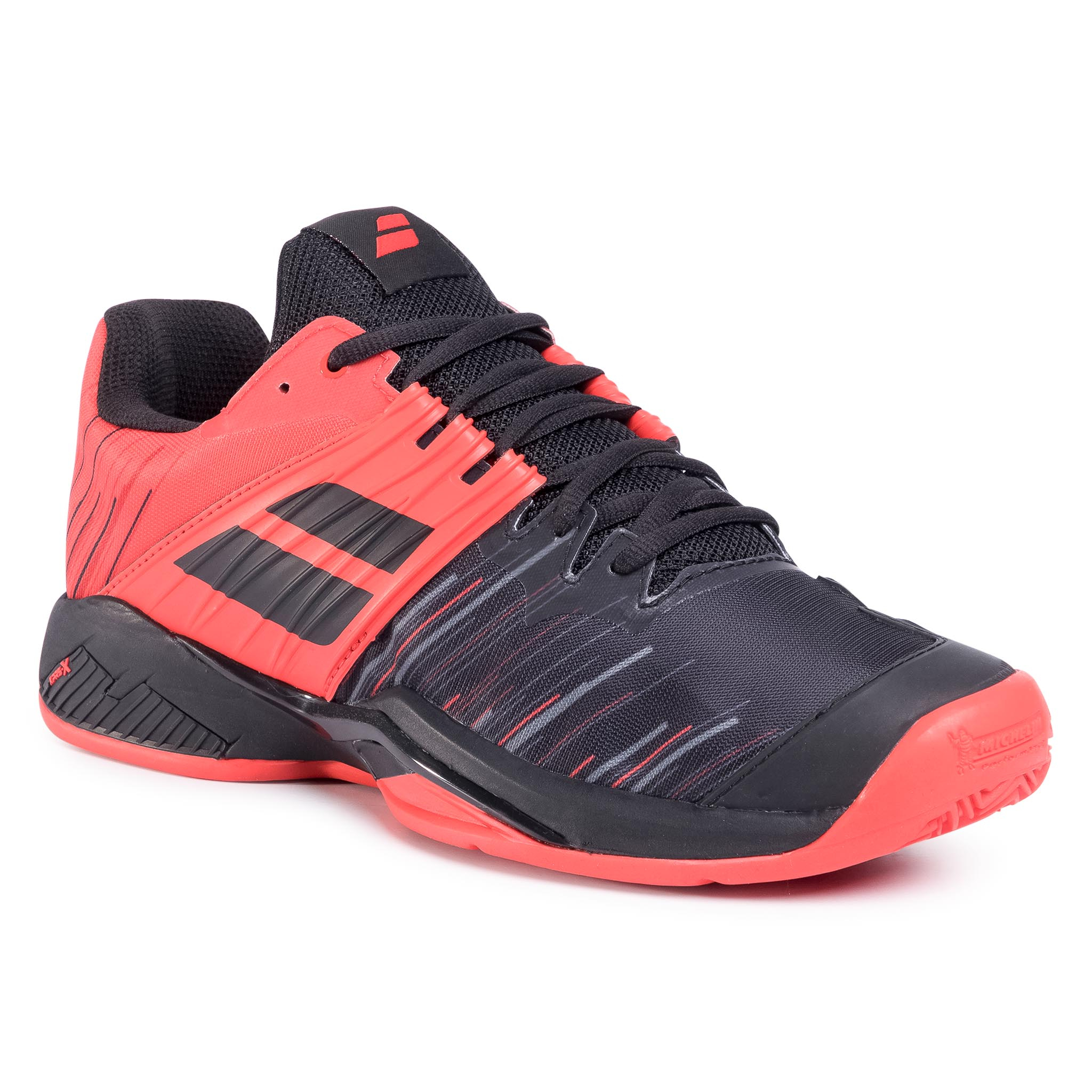Pantofi Babolat - Propulse Fury Clay Men 30s20425 Black/Tomato Red imagine epantofi.ro 2021