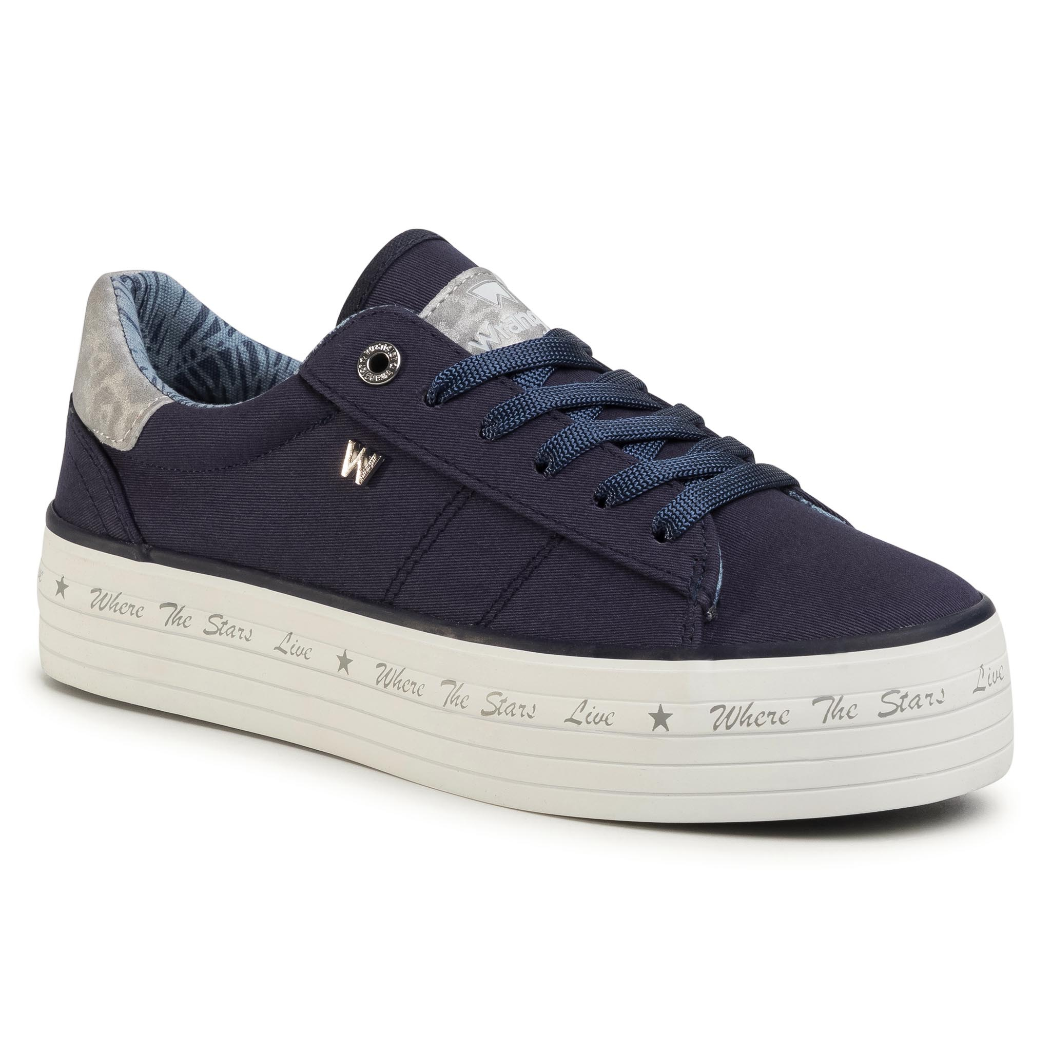 Teniși Wrangler - Java Wl01645a Navy 016 imagine epantofi.ro 2021