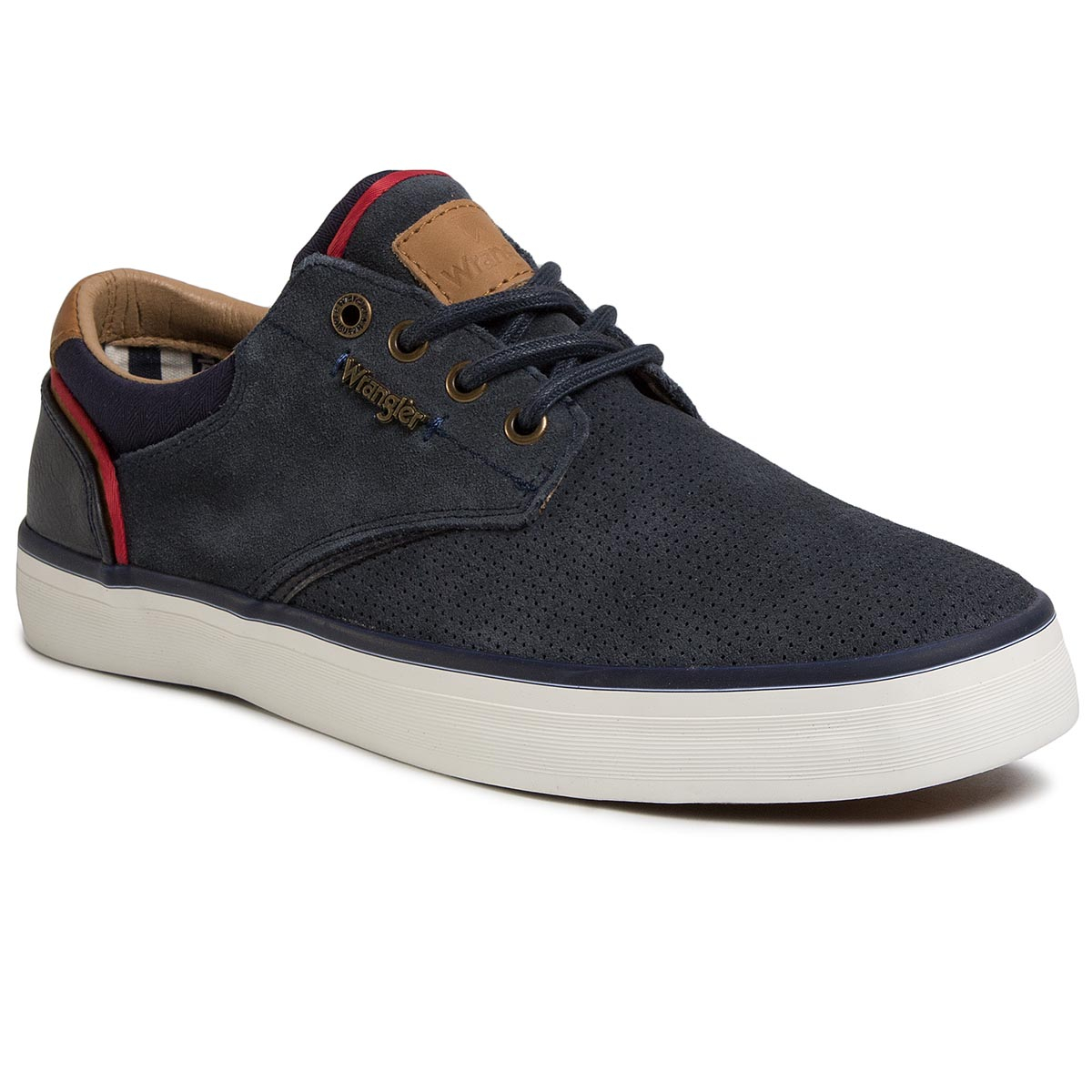 Teniși Wrangler - Monument Suede Wm01003a Navy 016 imagine epantofi.ro 2021
