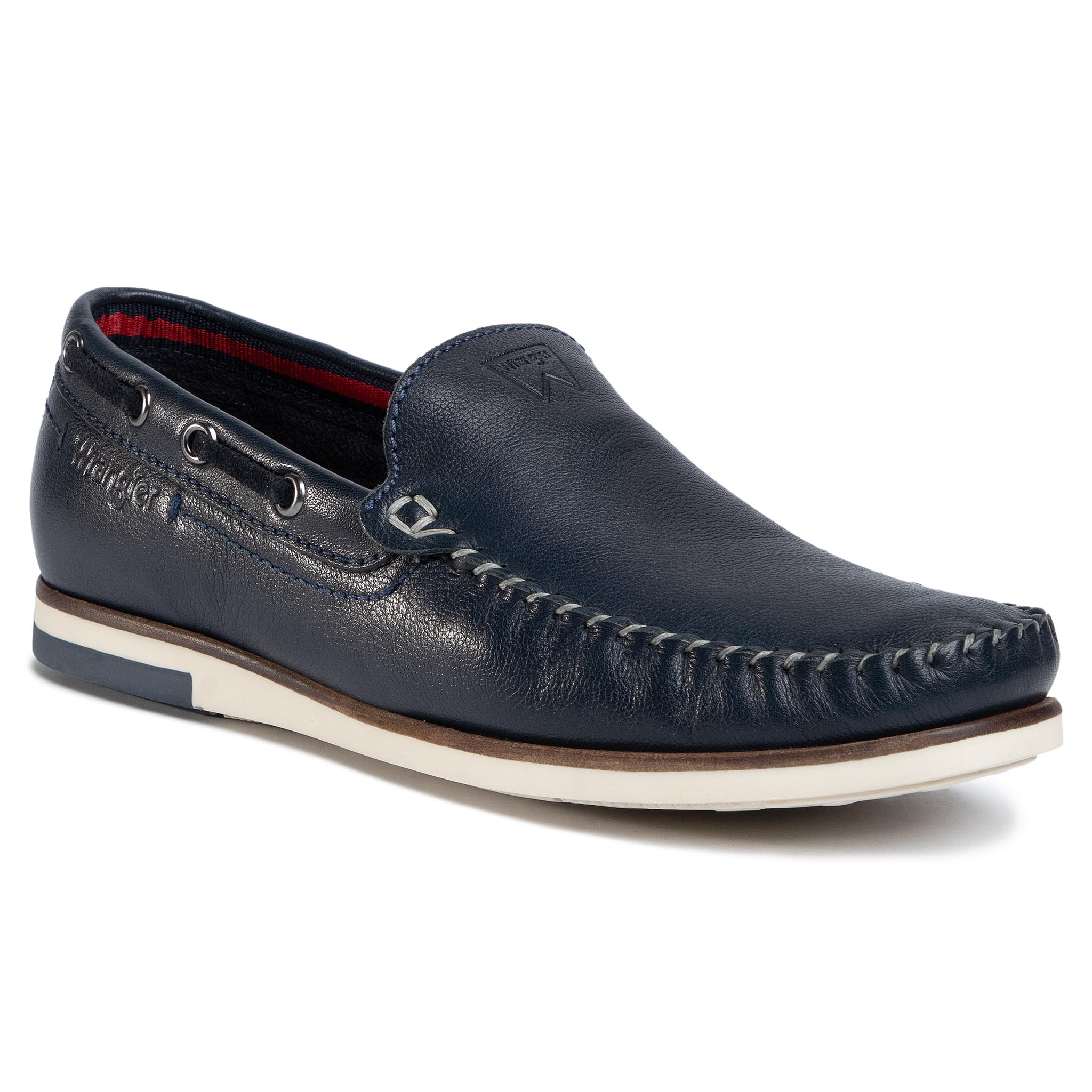 Mocasini Wrangler - Sharky Leather Wm01141a Navy 016 imagine