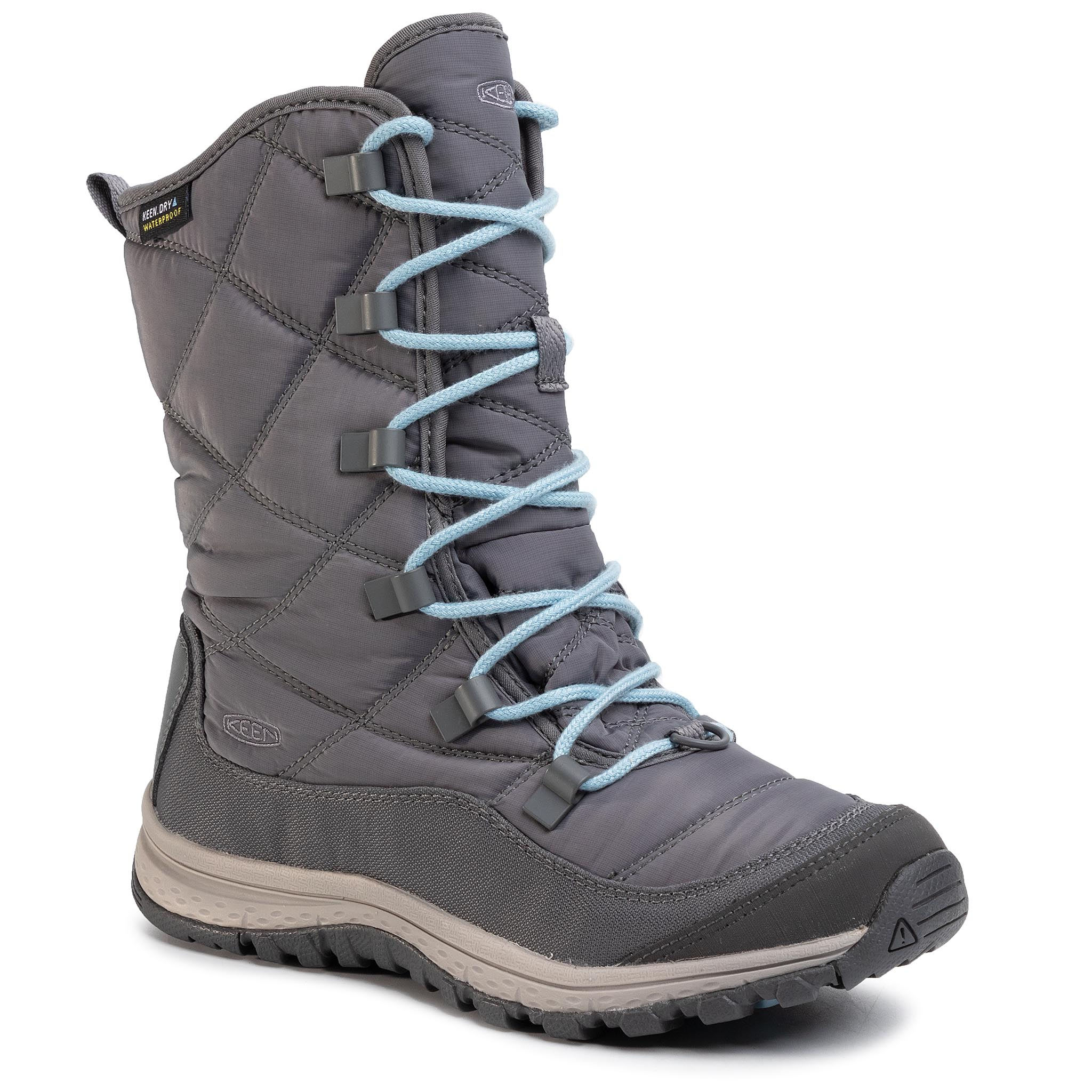Trekkings Keen - Terradora Lace Boot Wp 1021732 Steel Grey/Forget Me Not imagine epantofi.ro 2021