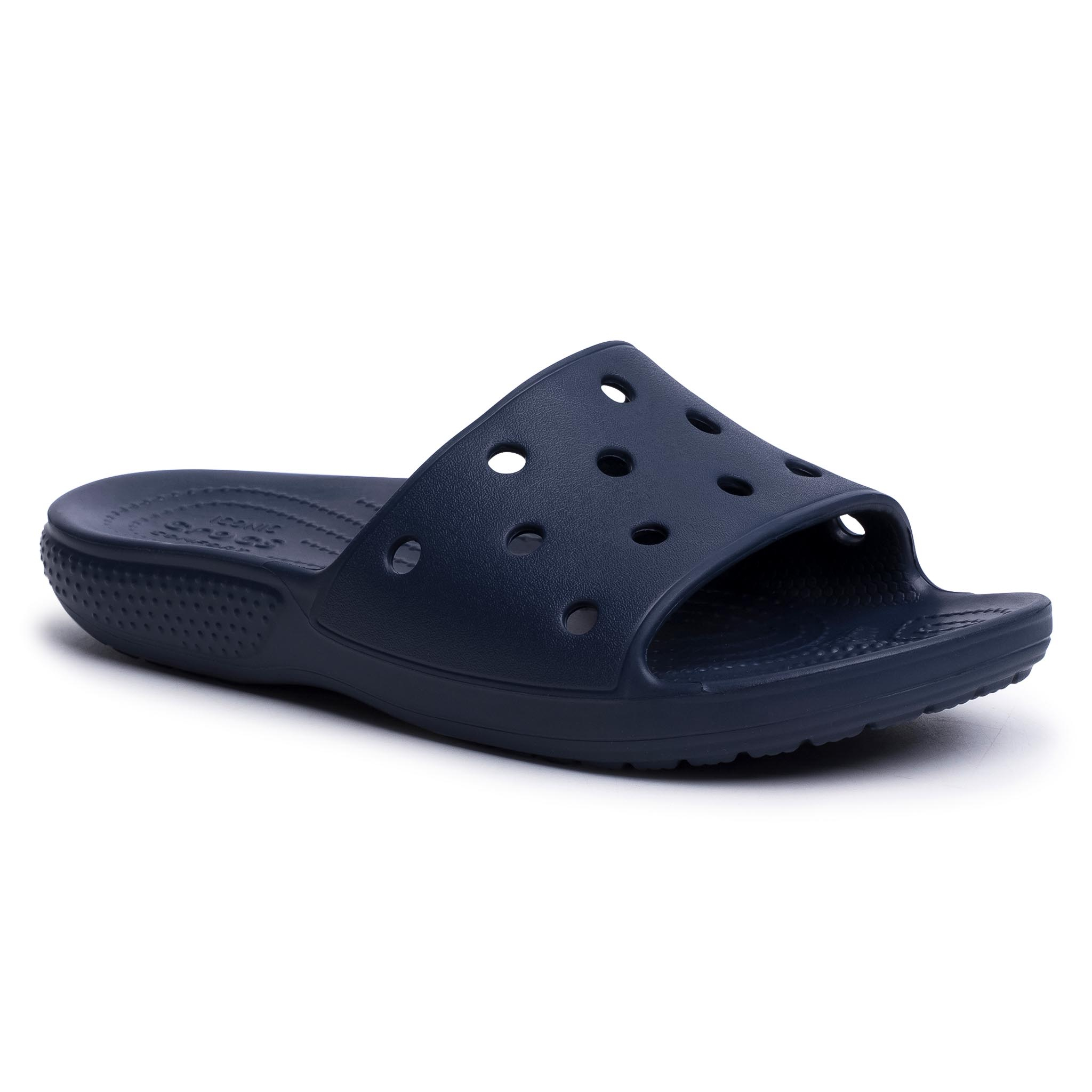 Șlapi Crocs - Classic Slide 206121 Navy imagine epantofi.ro 2021
