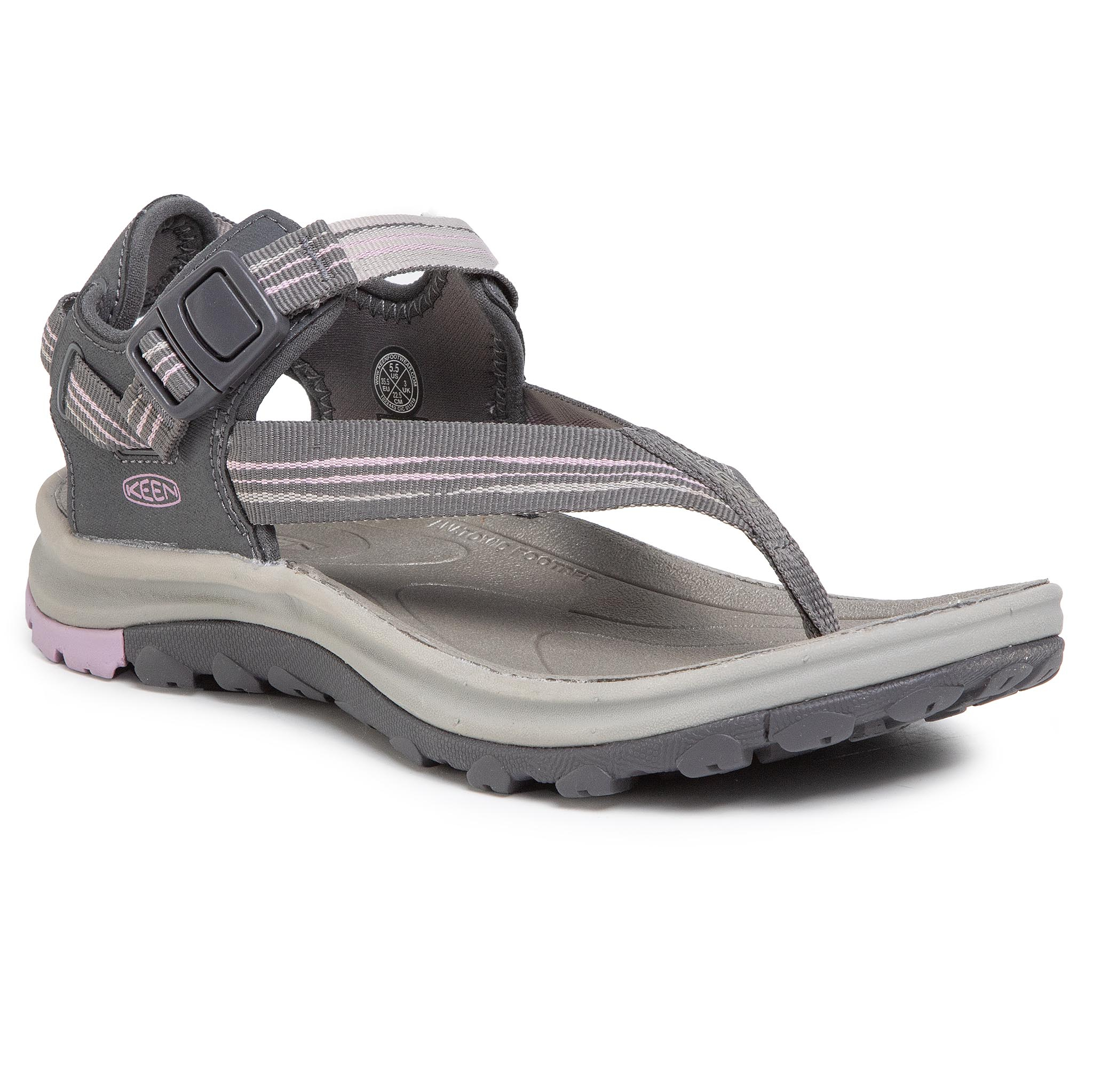 Sandale Keen - Terradora Ii Toe Post 1022443 Dark Grey/Dawn Pink imagine epantofi.ro 2021