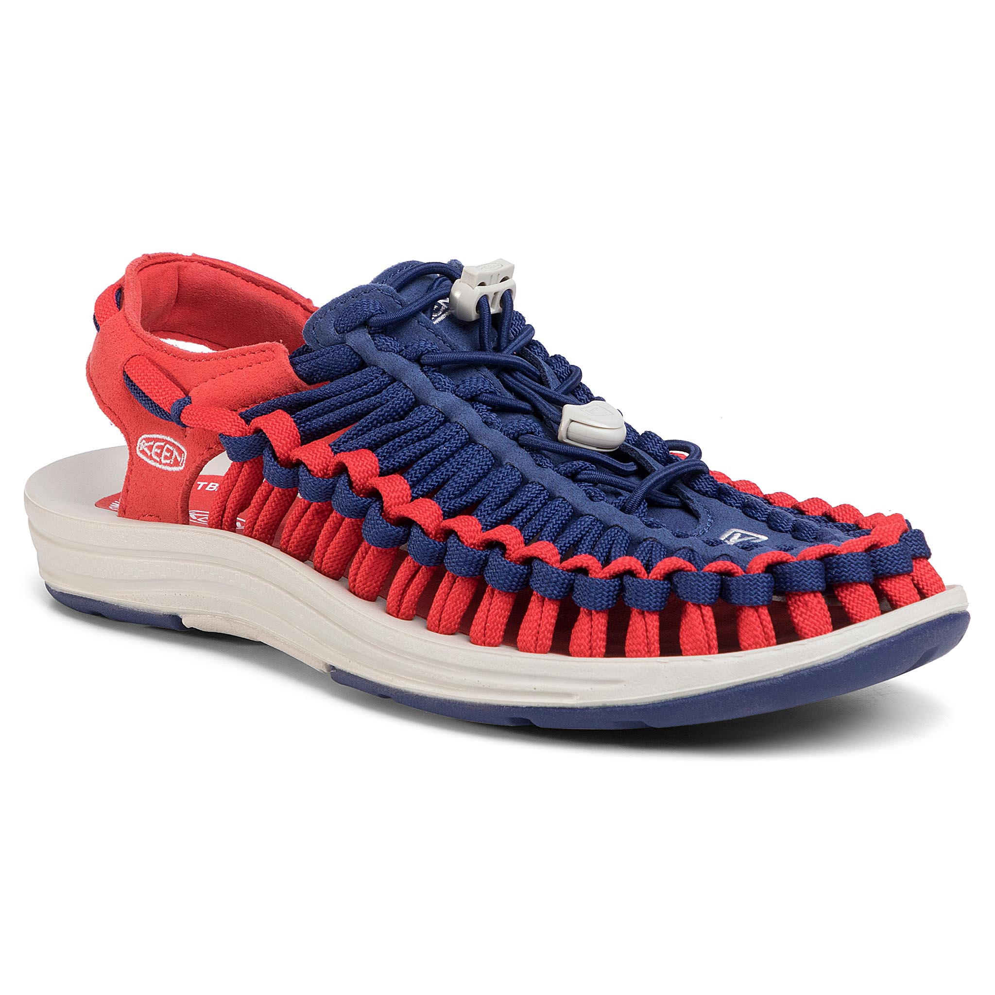 Sandale KEEN - Uneek Flat 1023064 Blue Depths/Firey Red